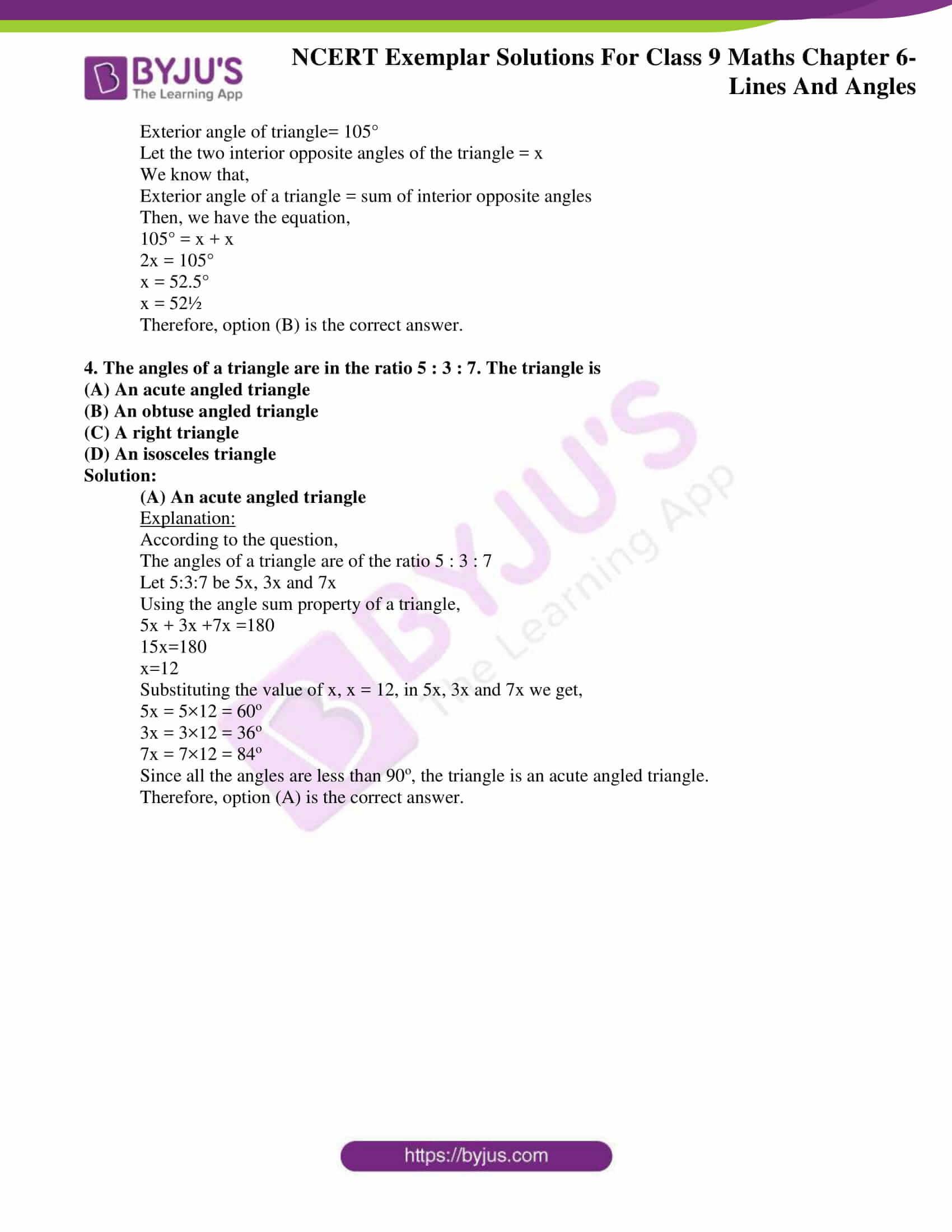 ncert exemplar solution class 9 maths chapter 6