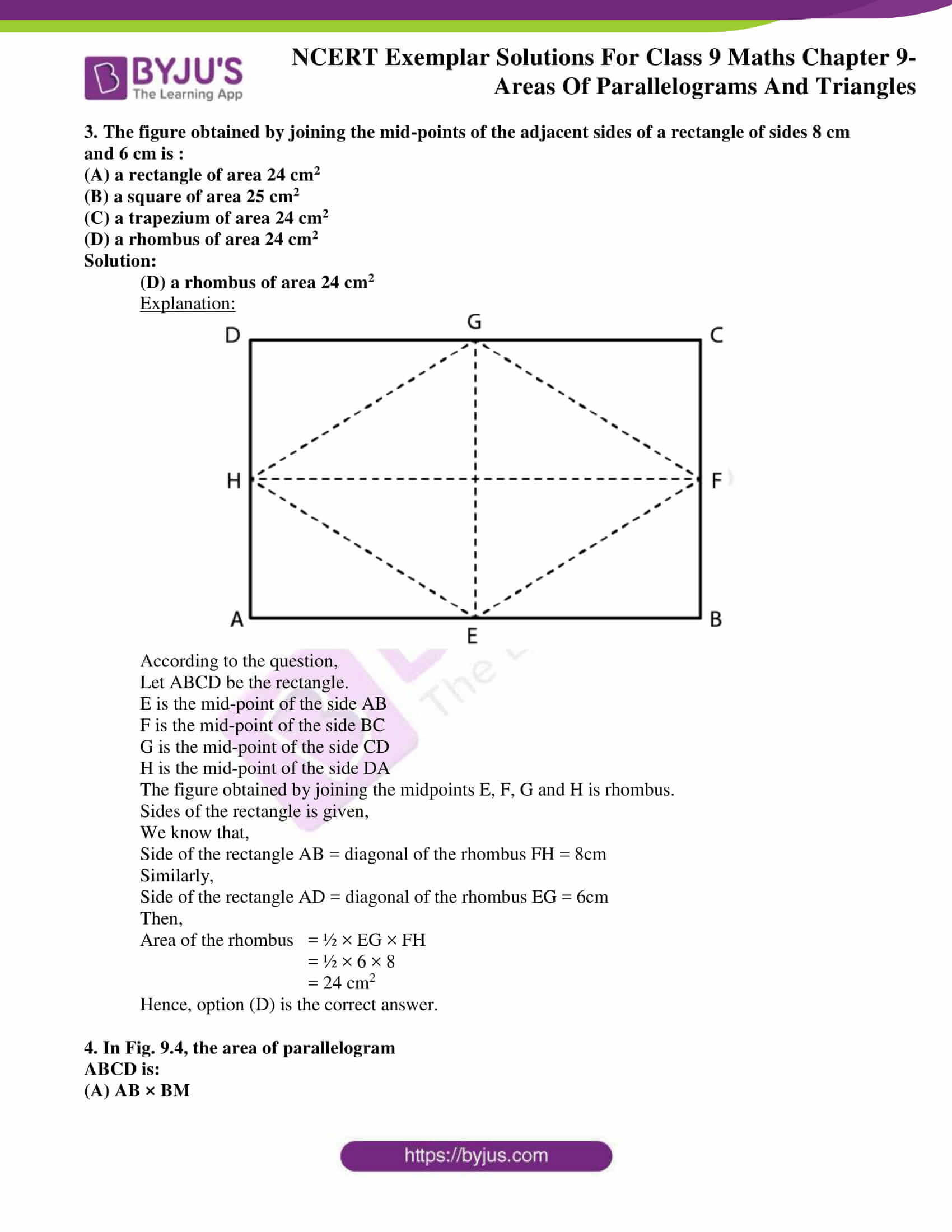 ncert exemplar solution class 9 maths chapter 9