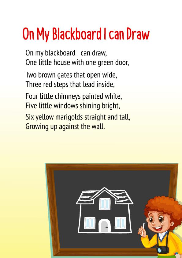 On my blackboard I can draw Poem