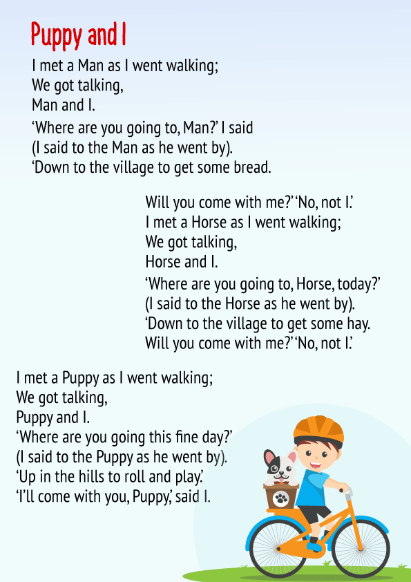 Puppy and I Poem