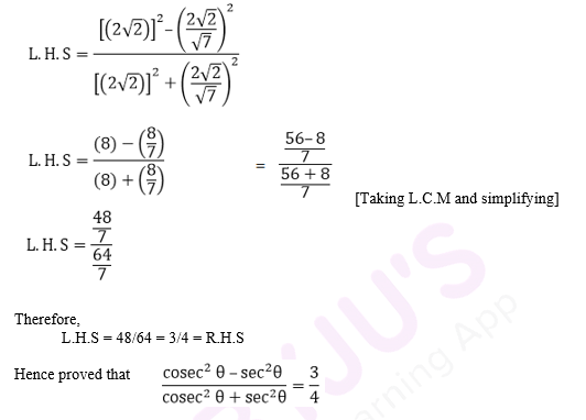 R D Sharma Solutions For Class 10 Maths Chapter 5 Trigonometric Ratios ex 5.1 - 36