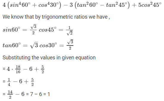 R D Sharma Solutions For Class 10 Maths Chapter 5 Trigonometric Ratios ex 5.2 - 10