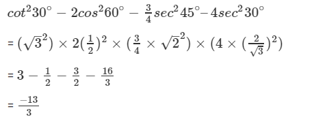 R D Sharma Solutions For Class 10 Maths Chapter 5 Trigonometric Ratios ex 5.2 - 13