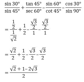 R D Sharma Solutions For Class 10 Maths Chapter 5 Trigonometric Ratios ex 5.2 - 21