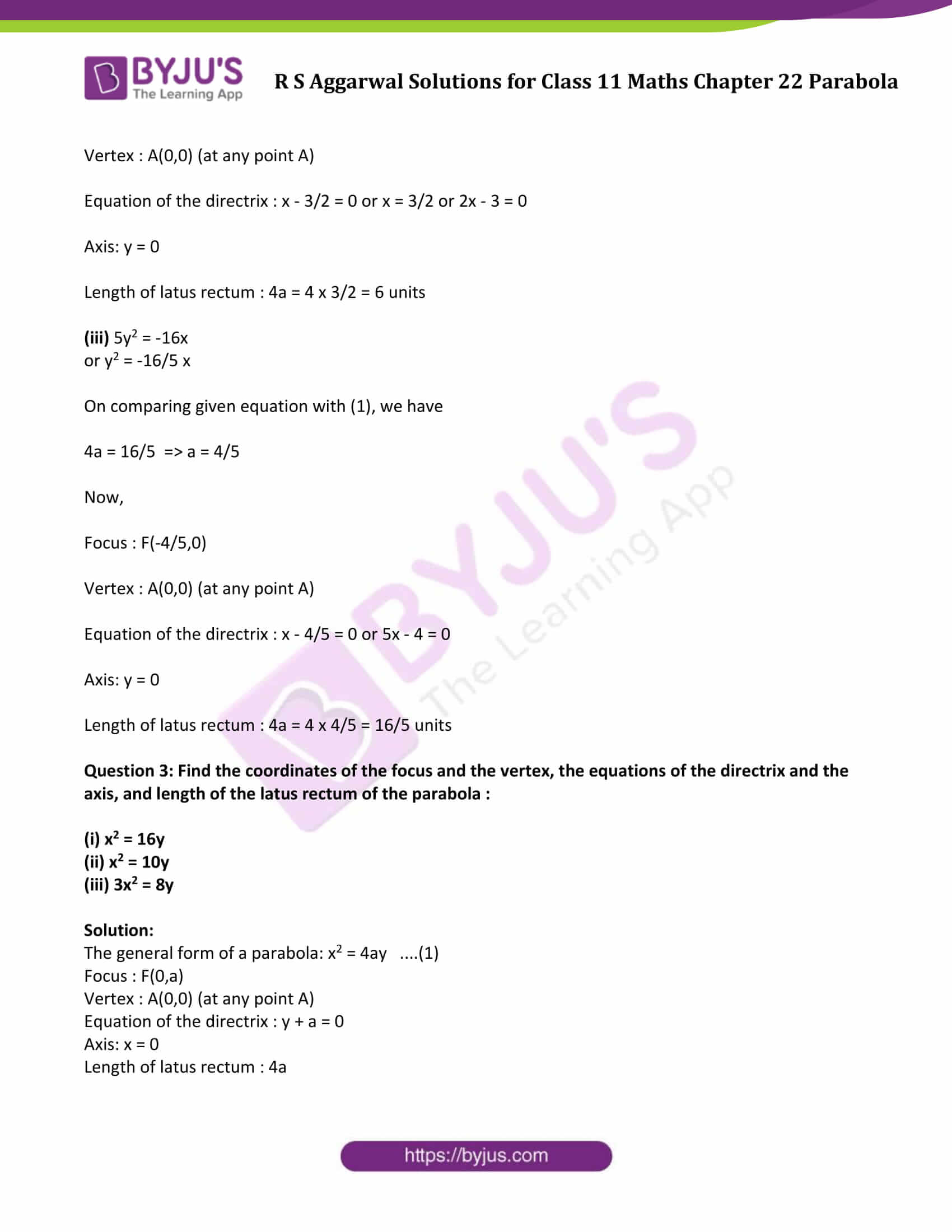 rs aggarwal solution class 11 maths chapter 22