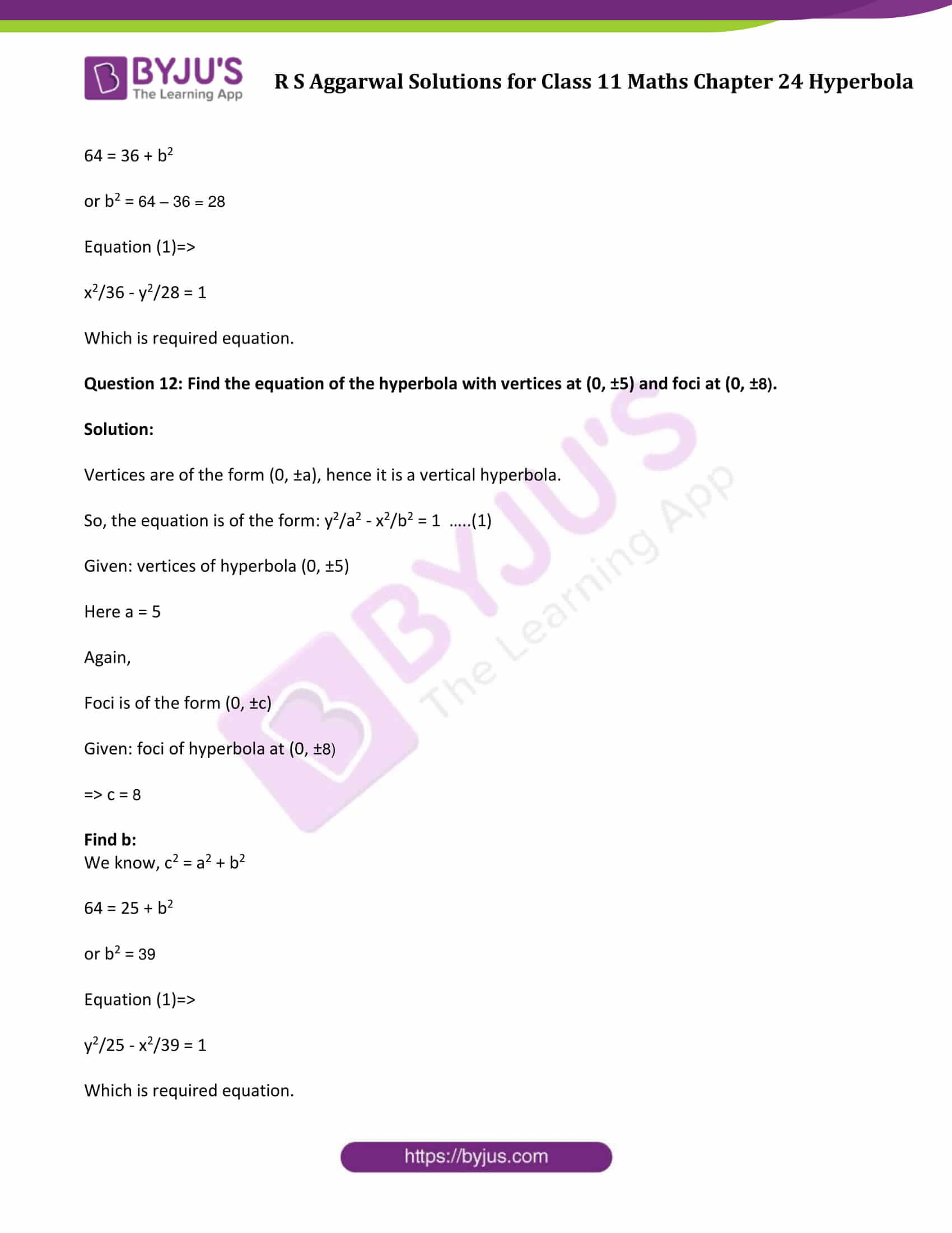 rs aggarwal solution class 11 maths chapter 24