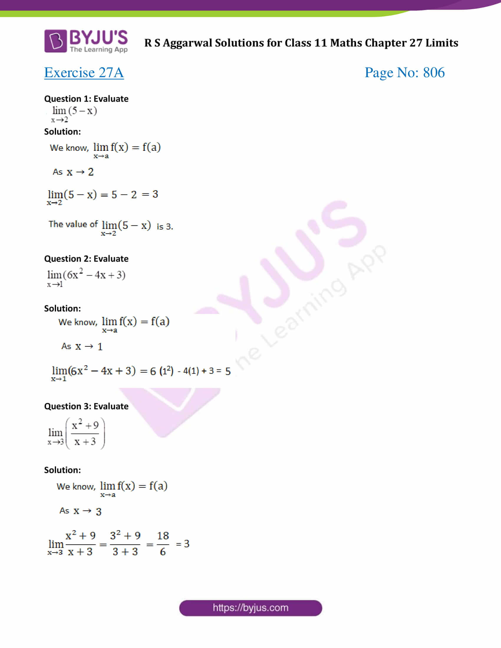 rs aggarwal solution class 11 maths chapter 27