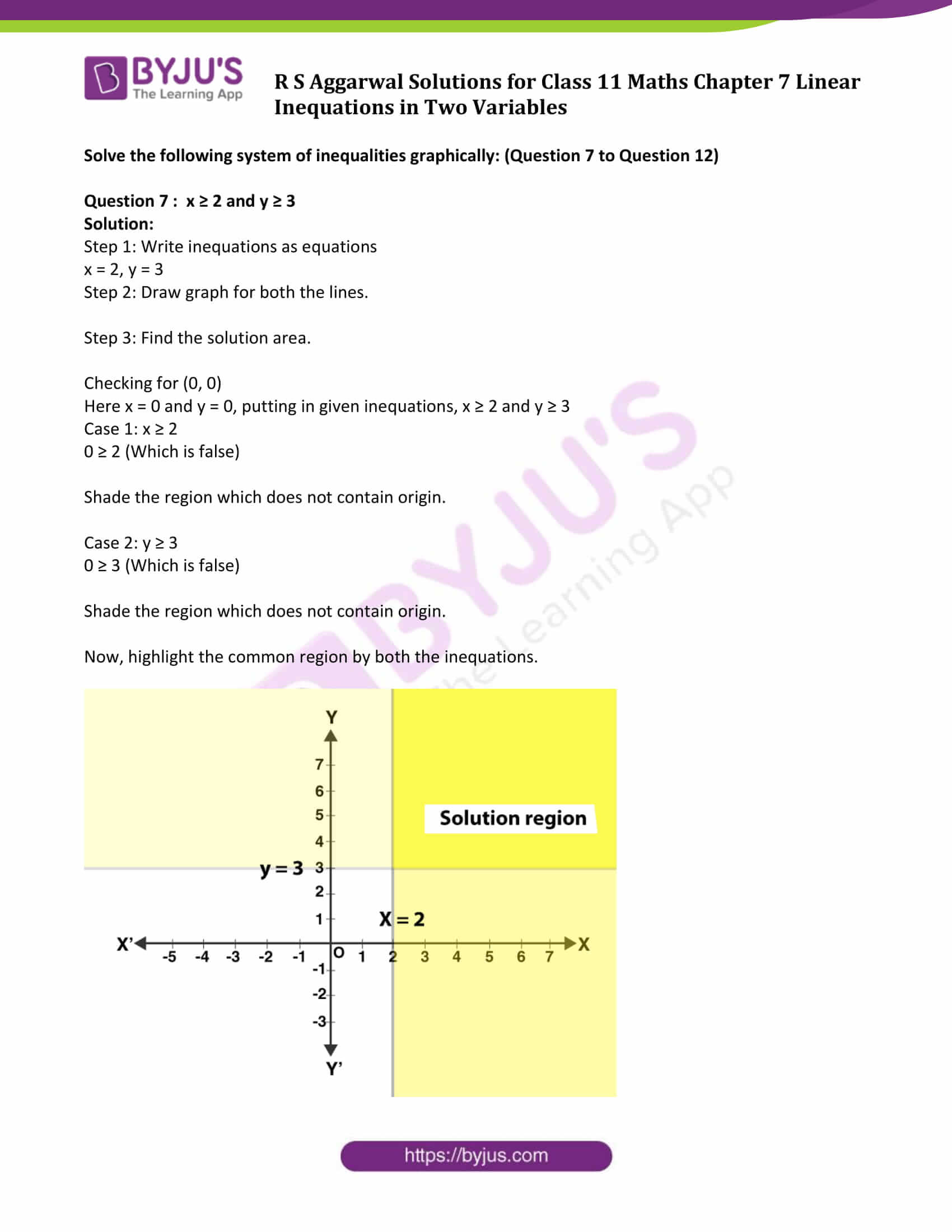 rs aggarwal solution class 11 maths chapter 7