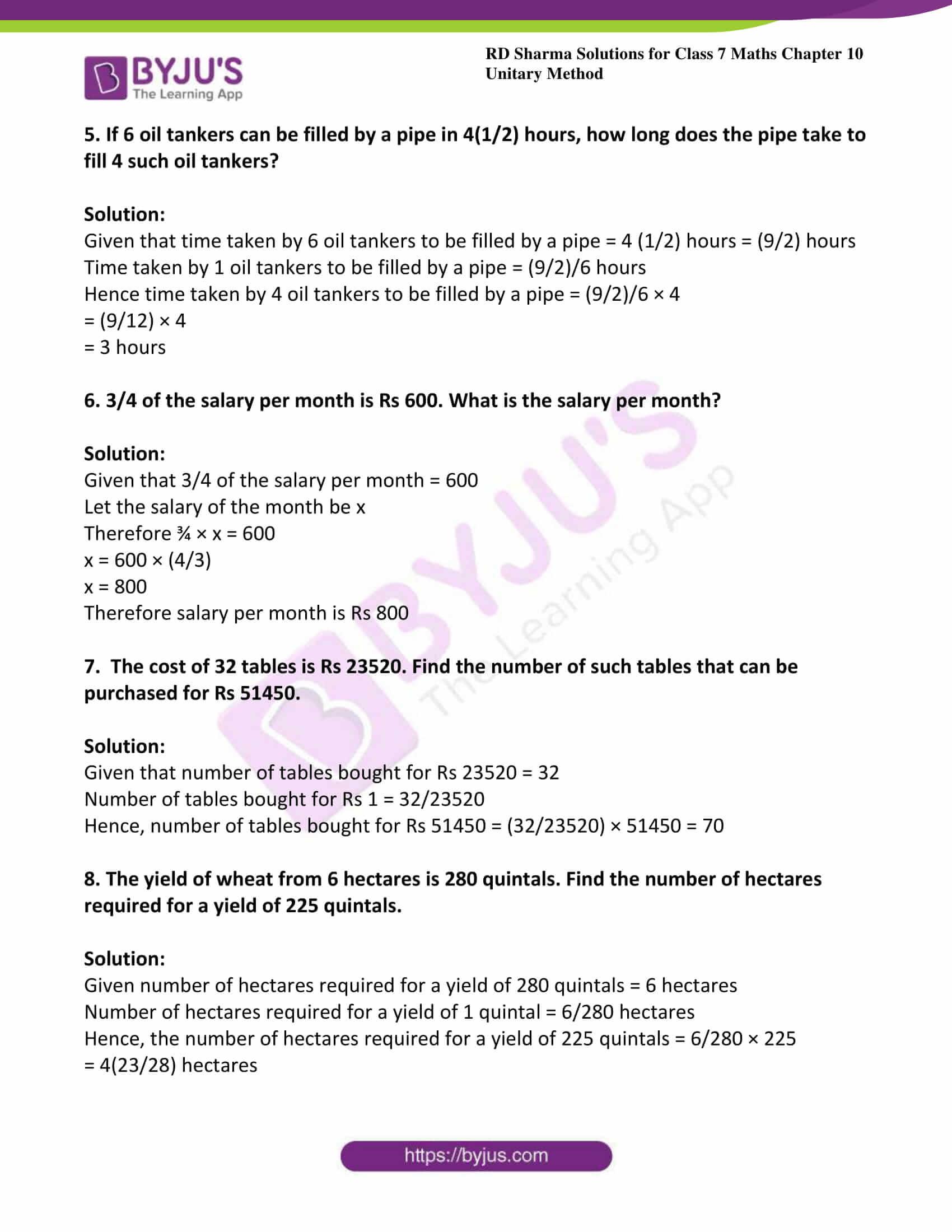 rd sharma class 7 maths solution chapter 10