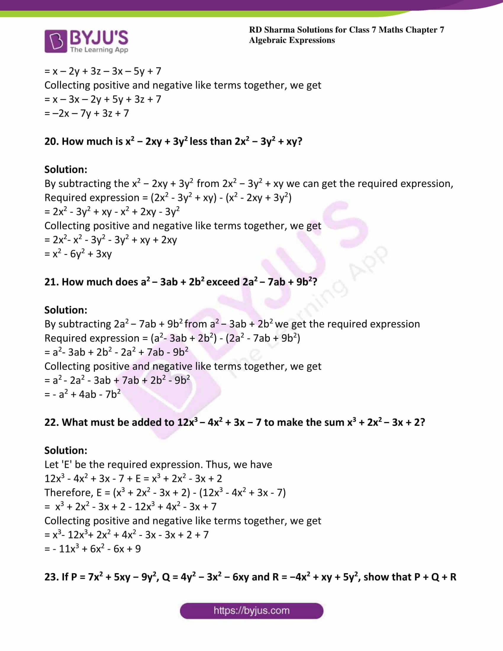 rd sharma class 7 maths solution chapter 7 ex 2