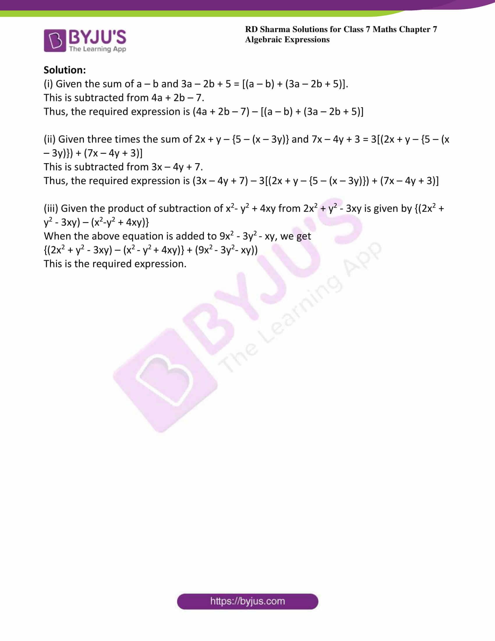 rd sharma class 7 maths solution chapter 7 ex 3