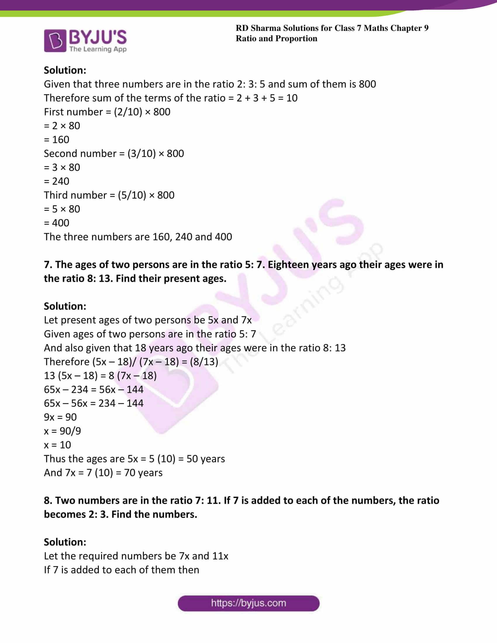 rd sharma class 7 maths solution chapter 9 ex 1