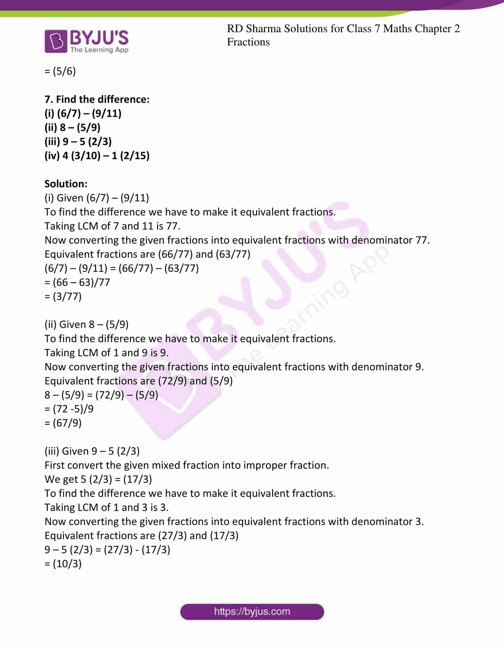 rd sharma class 7 maths chapter 2