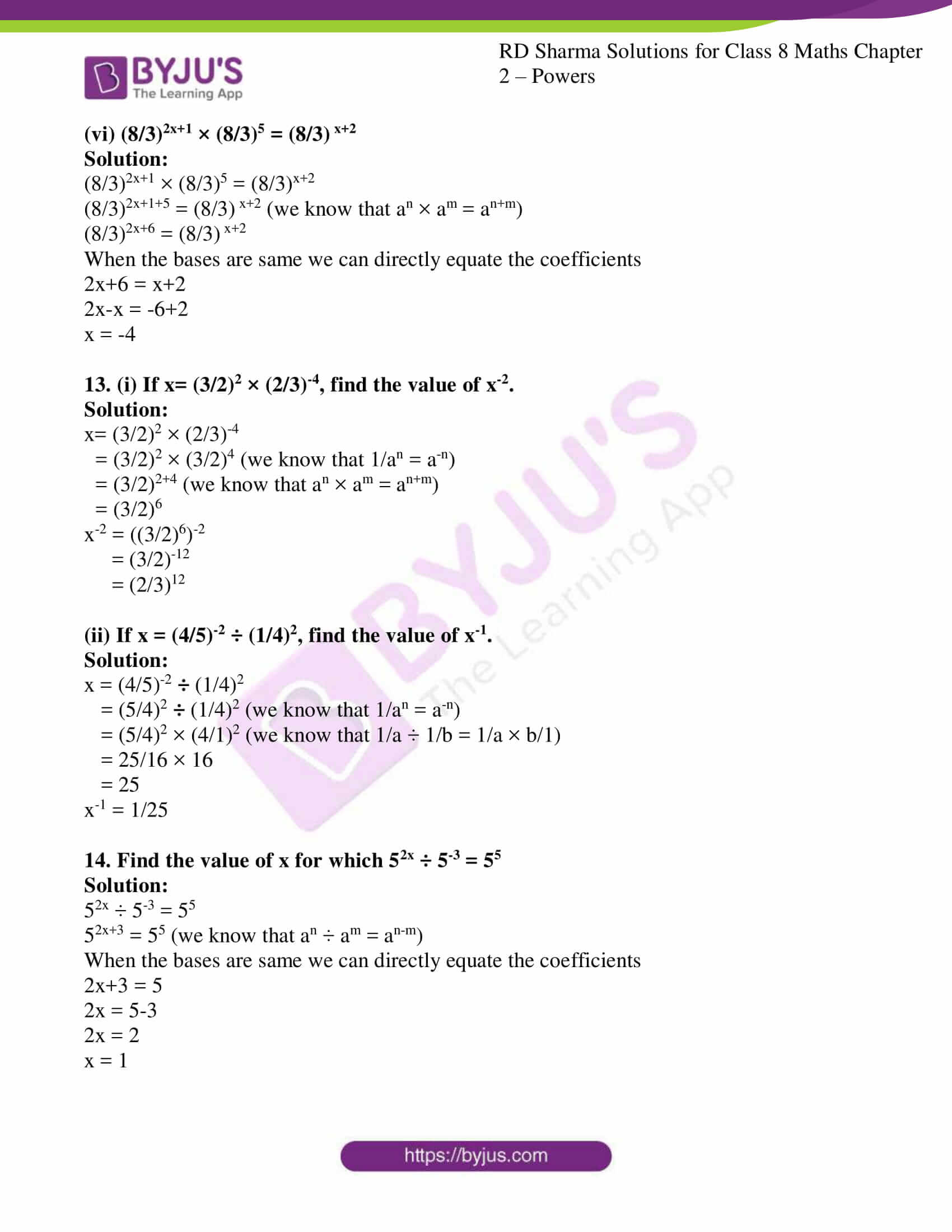 rd sharma class 8 maths chapter 2