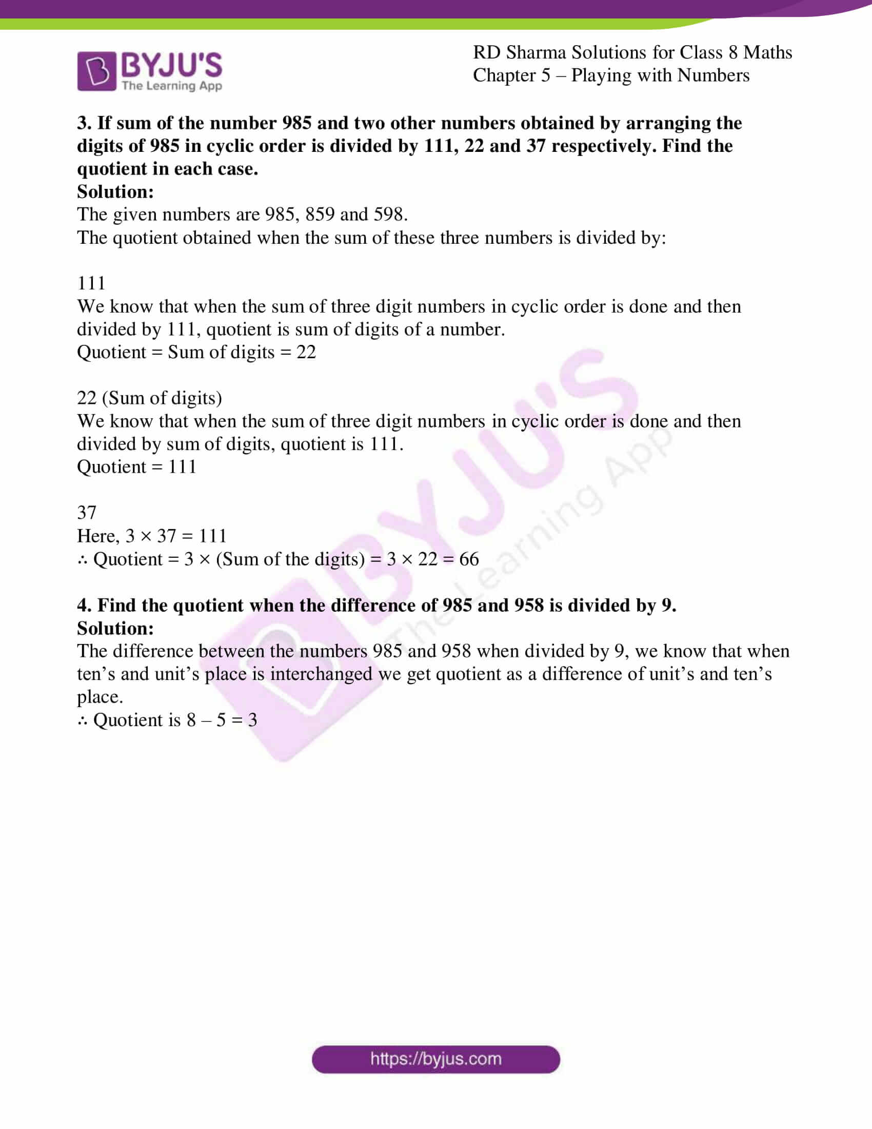 rd sharma class 8 maths chapter 5