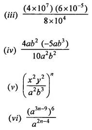 RD Sharma Class 9 Chapter 2 Exponents of Real Numbers Ex 2.1 Question 1