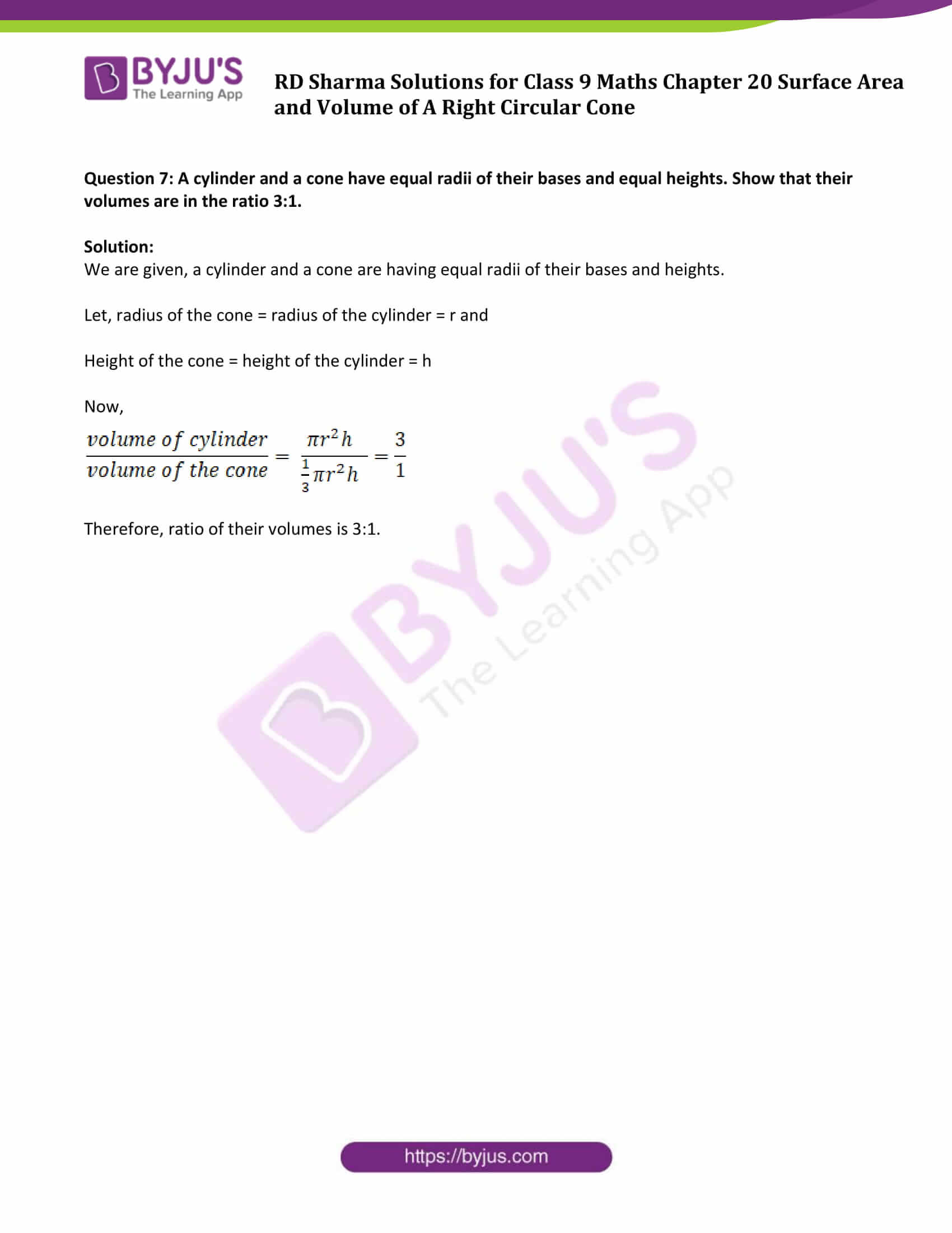 rd sharma solution class 9 maths chapter 20