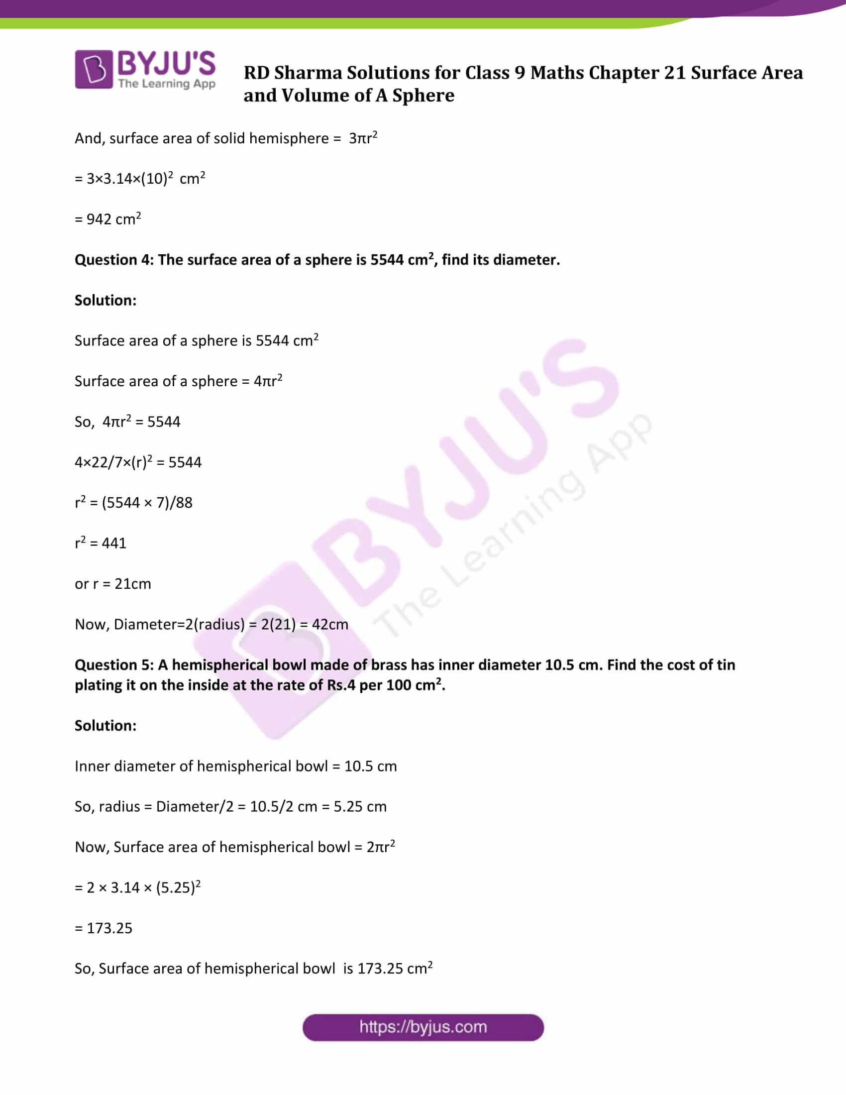 rd sharma solution class 9 maths chapter 21