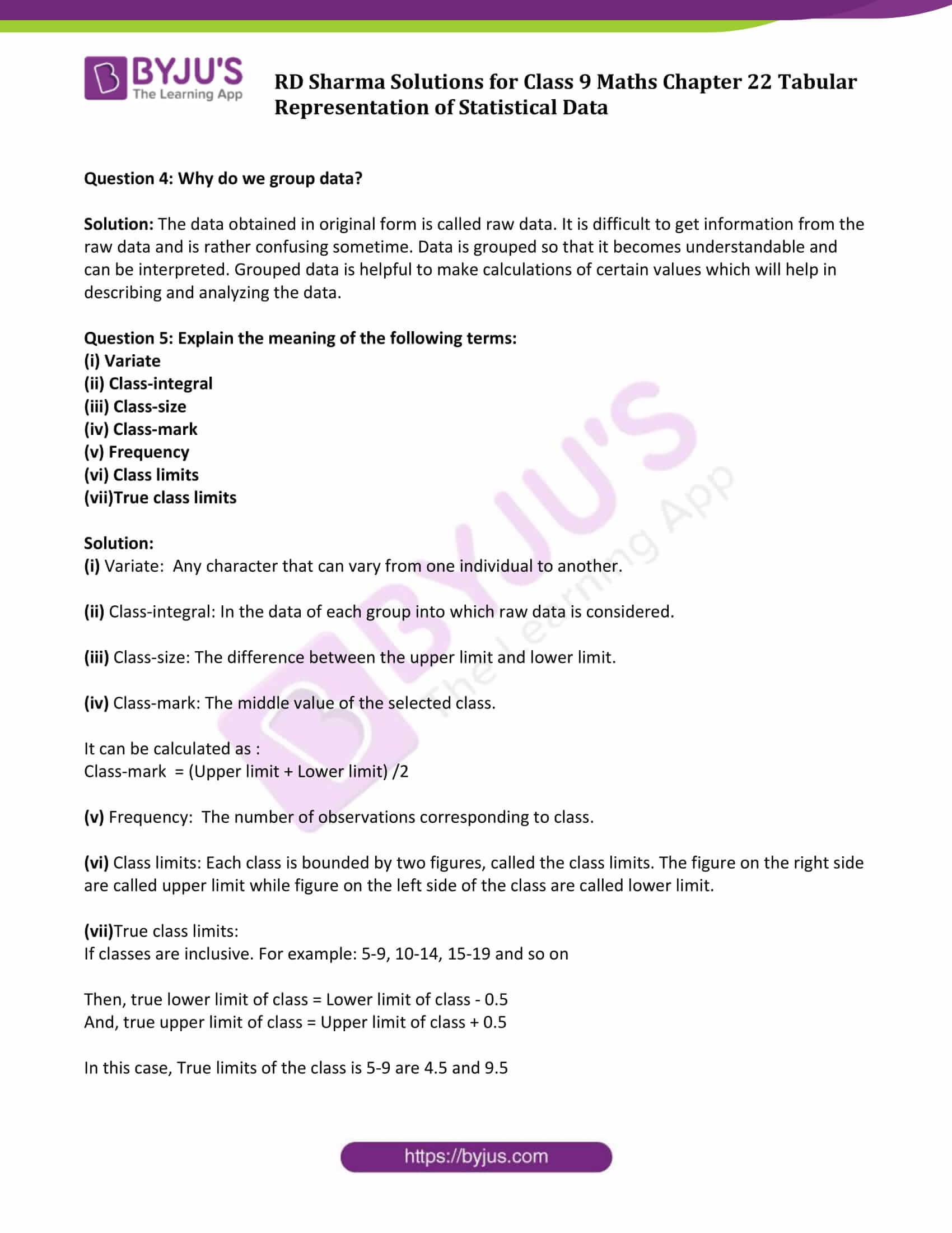 rd sharma solution class 9 maths chapter 22