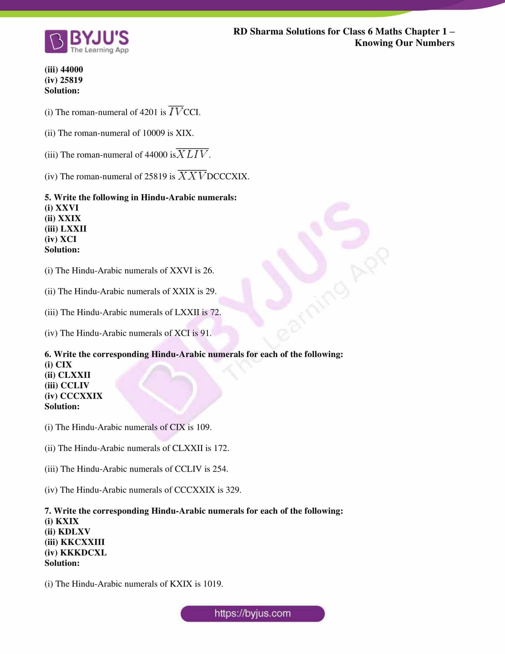 rd sharma solution class 6 maths chapter 1 ex 10