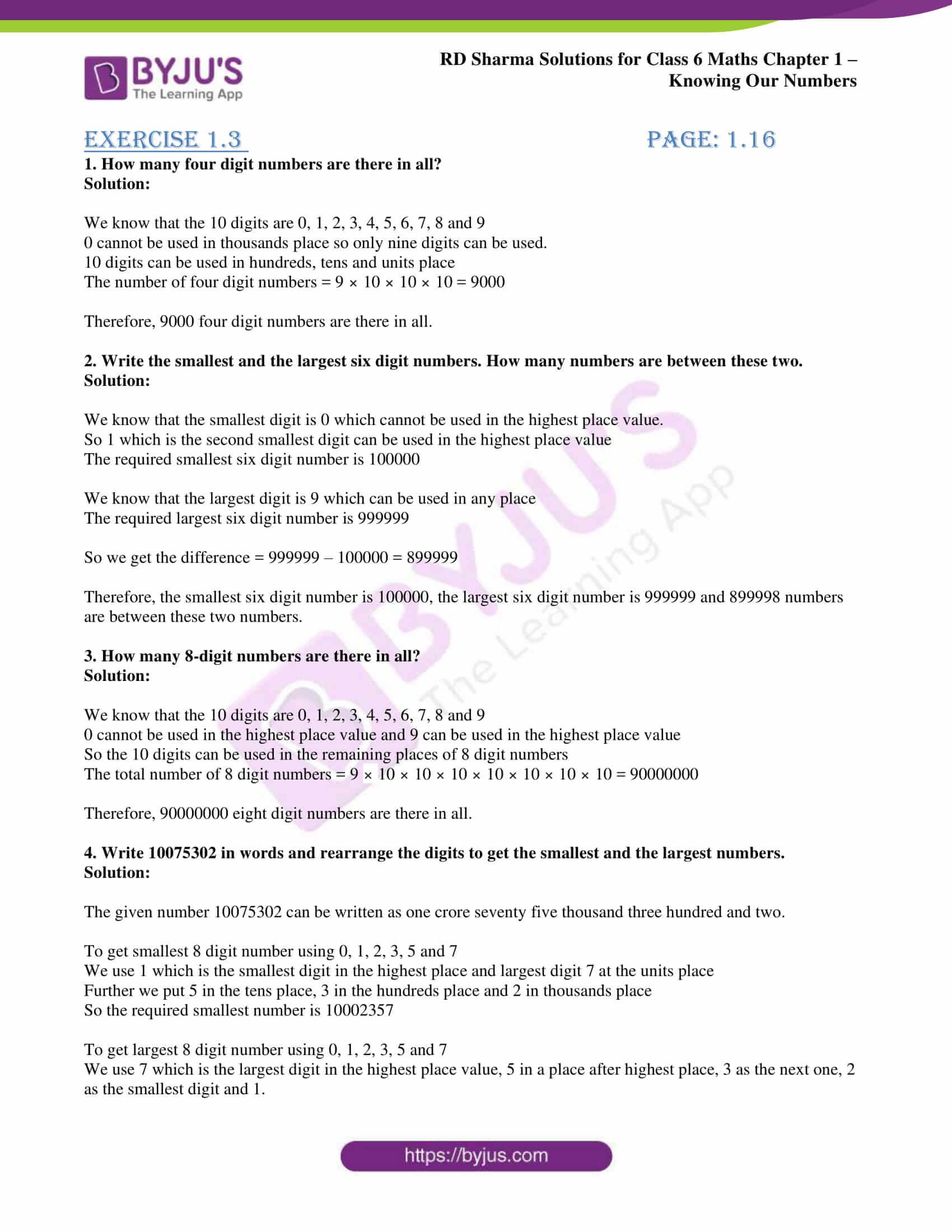 rd sharma solution class 6 maths chapter 1
