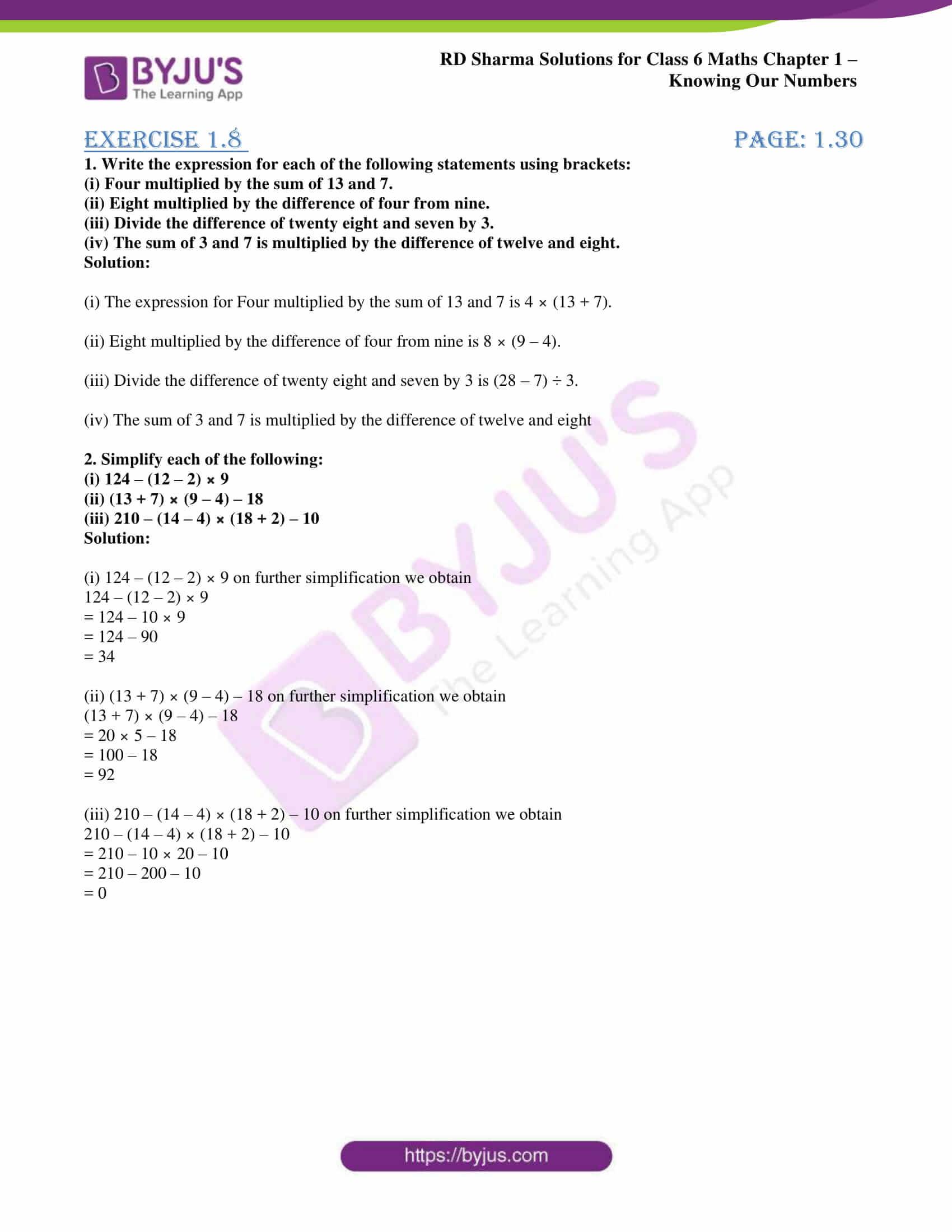 rd sharma solution class 6 maths chapter 1 ex 8