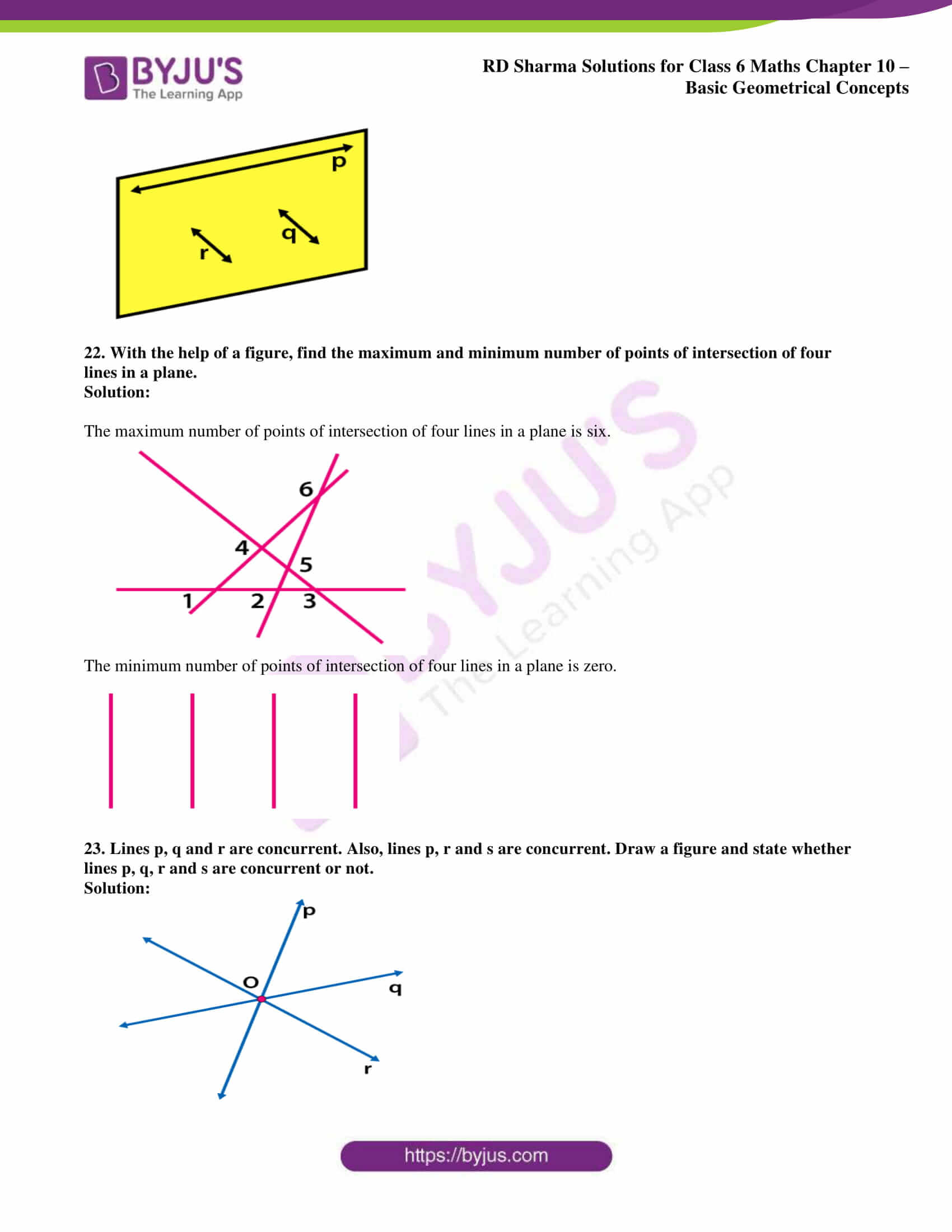 rd sharma solution class 6 maths chapter 10 ex 1