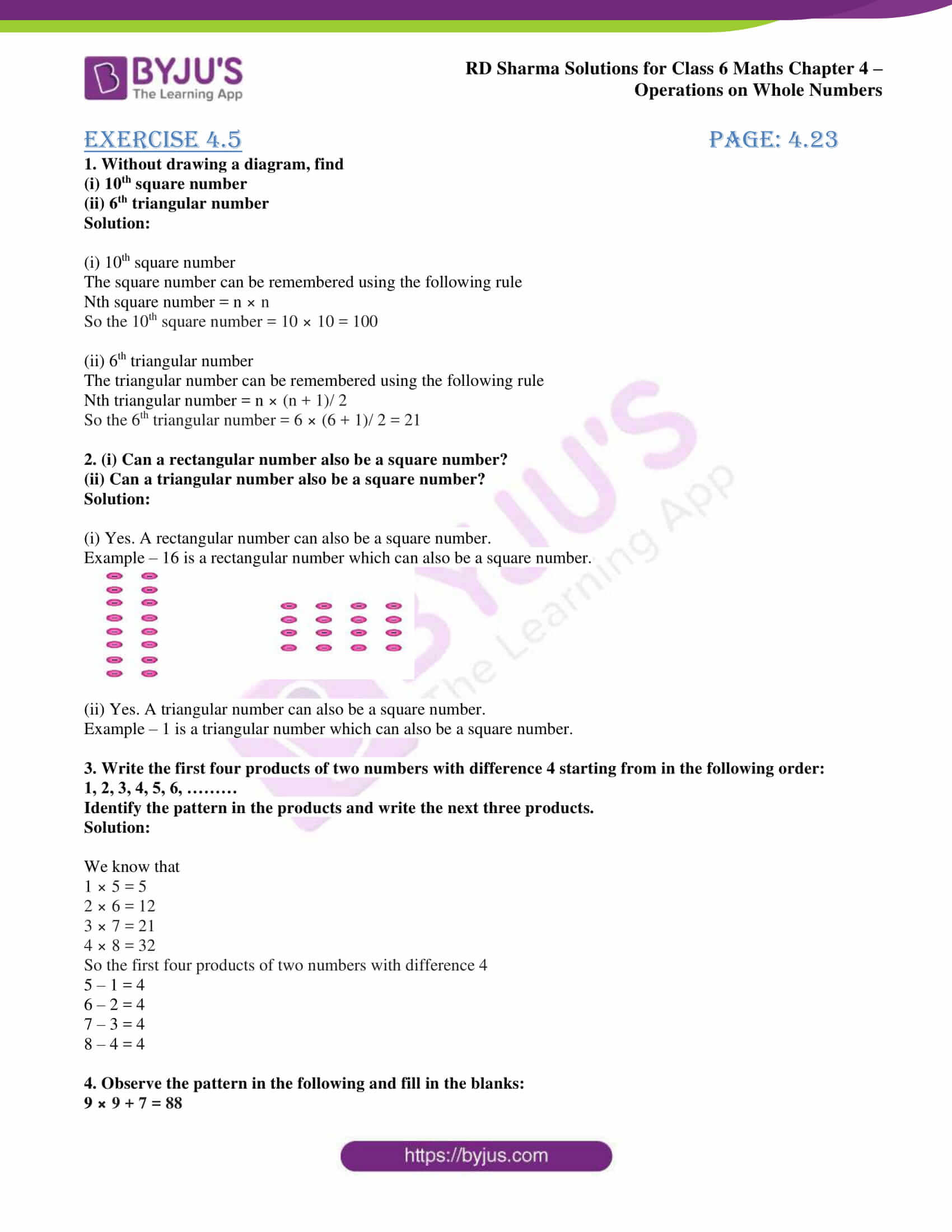 rd sharma solution class 6 maths chapter 4 ex 5