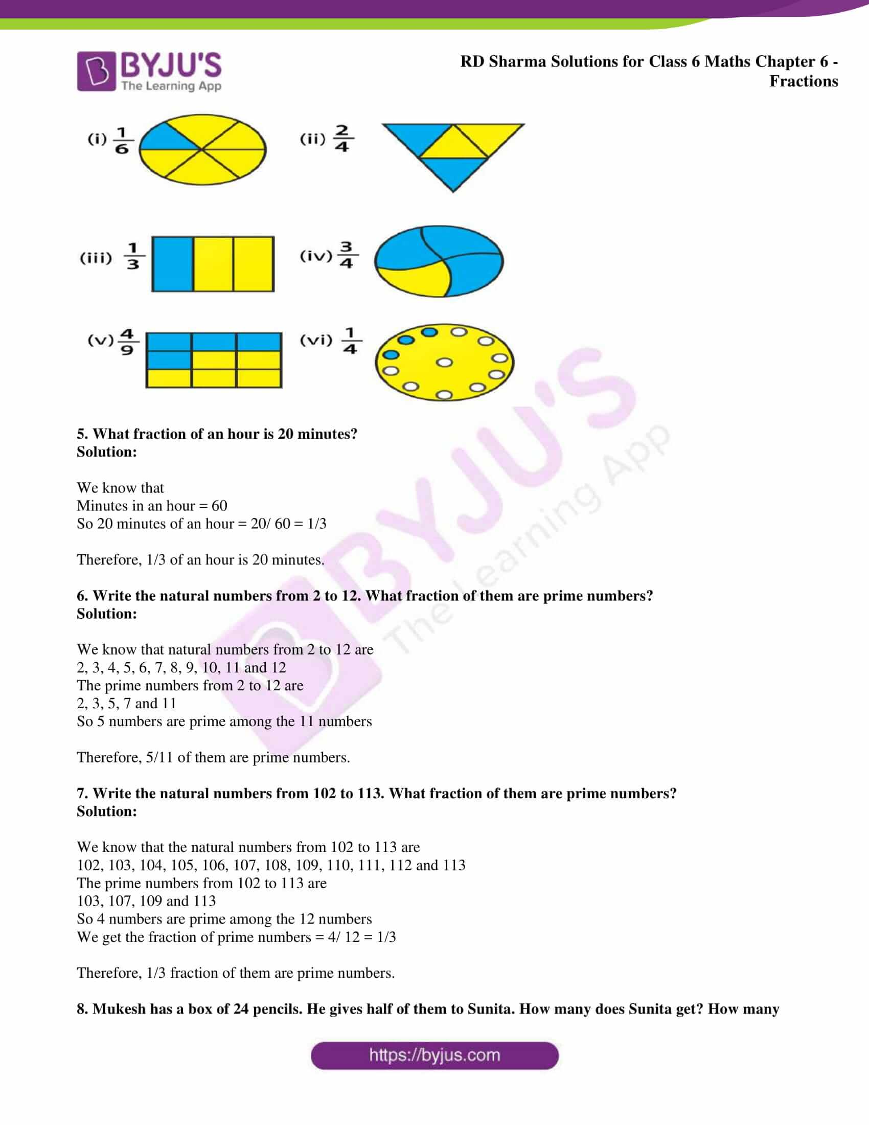 rd sharma solution class 6 maths chapter 6