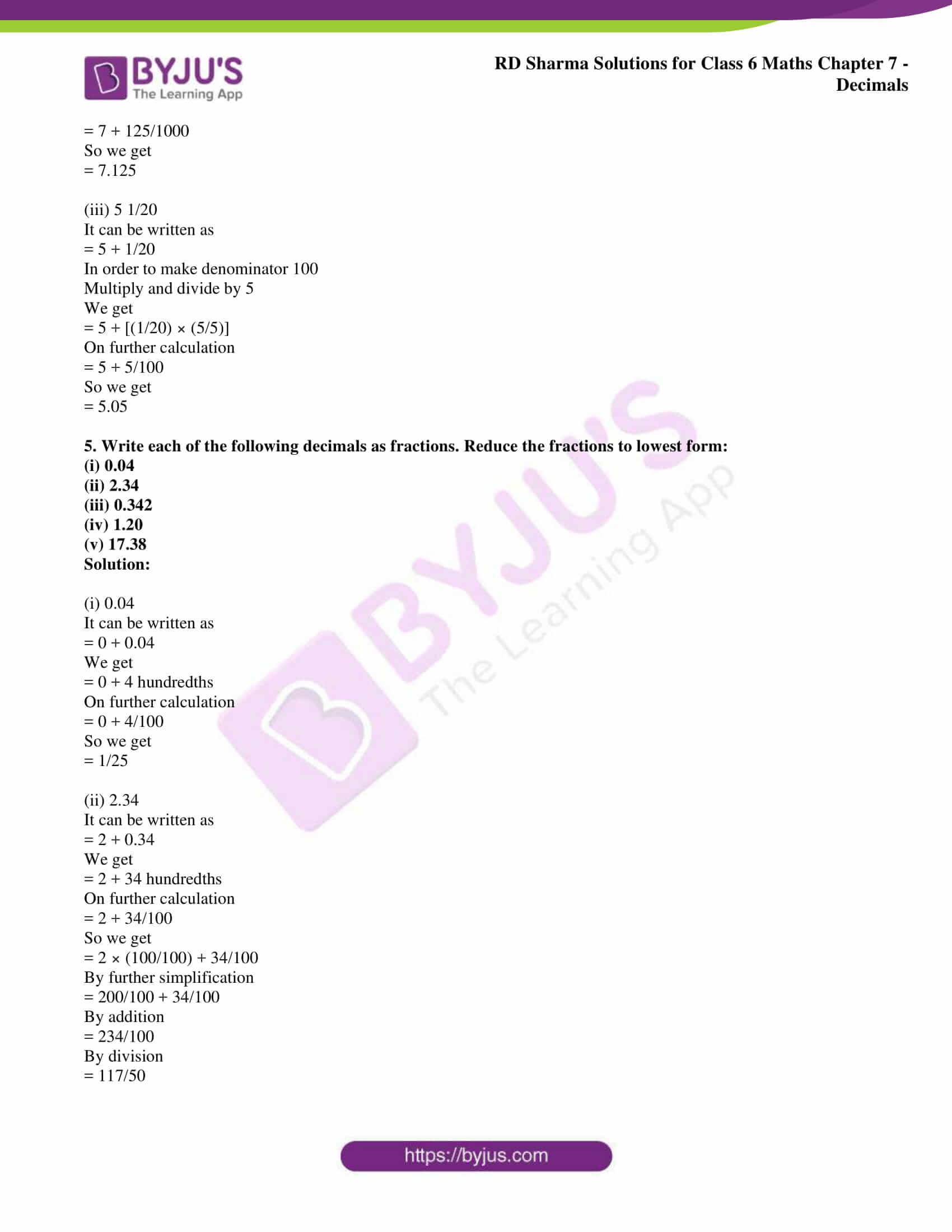 rd sharma solution class 6 maths chapter 7 ex 3
