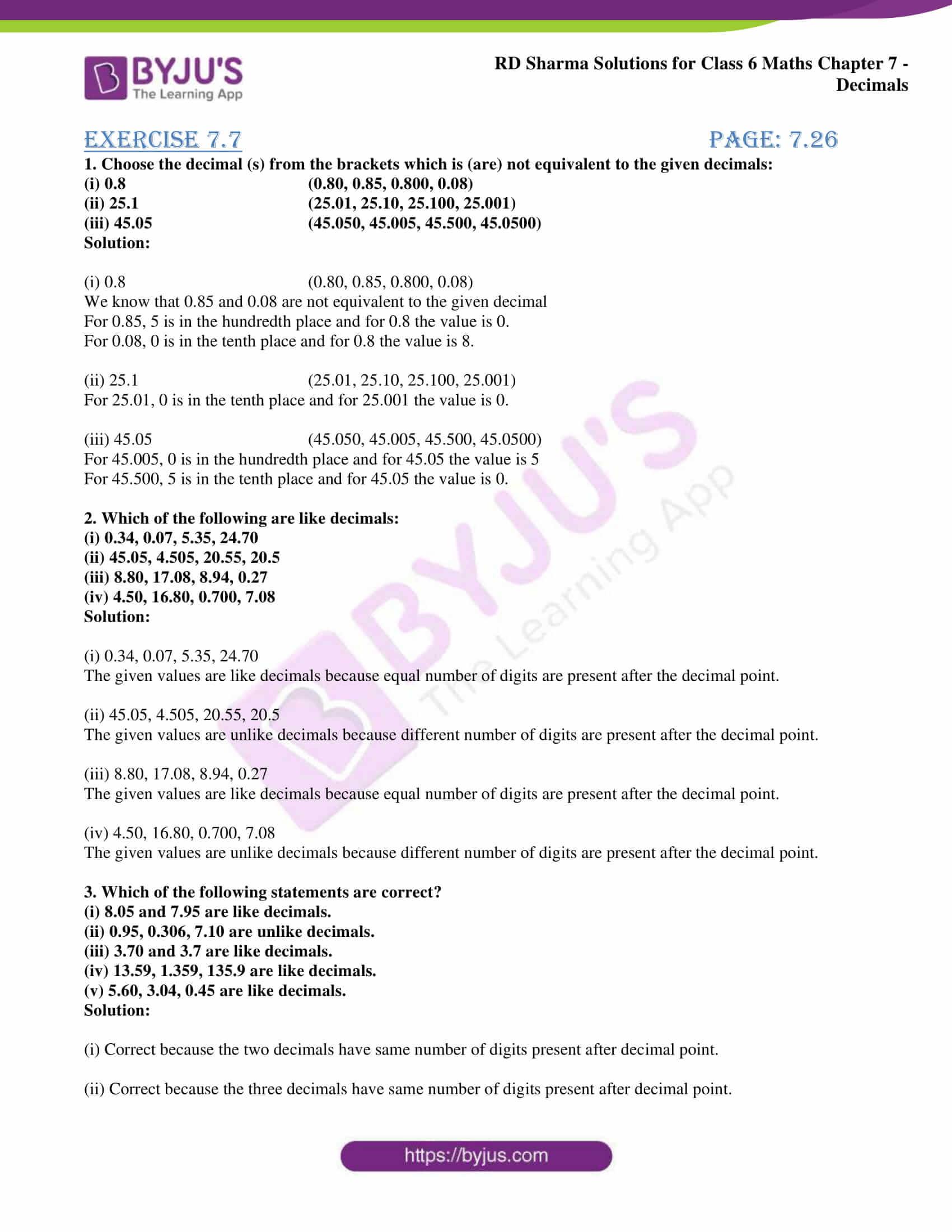 rd sharma solution class 6 maths chapter 7 ex 7