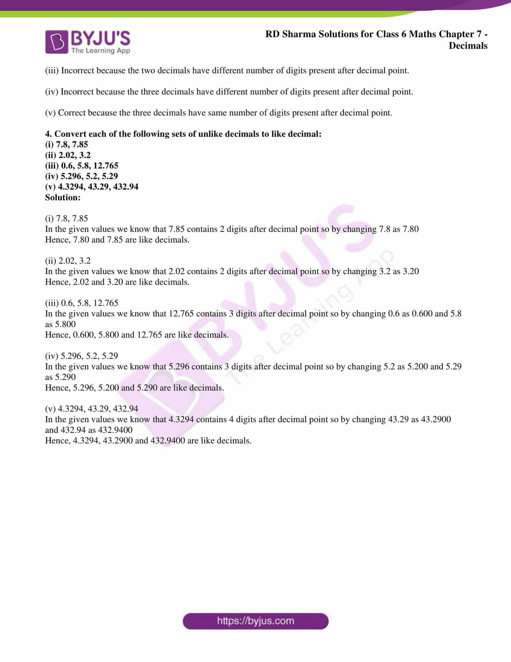 rd sharma solution class 6 maths chapter 7