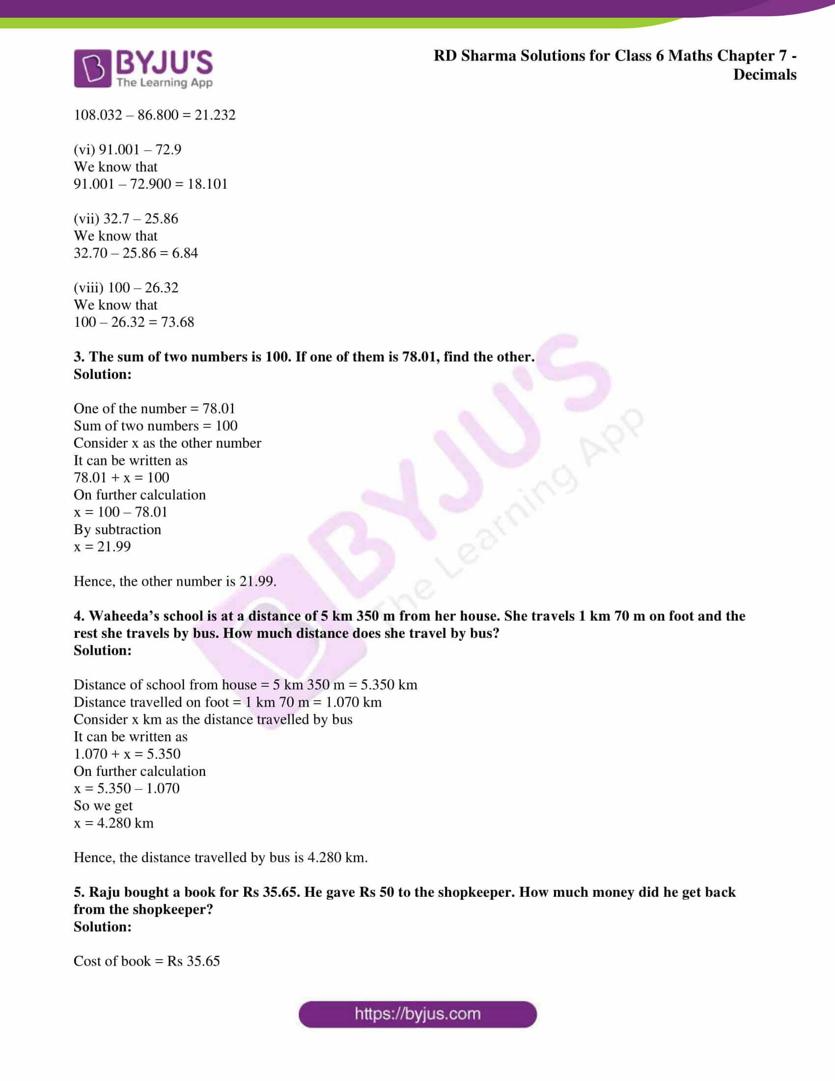 rd sharma solution class 6 maths chapter 7 ex 9
