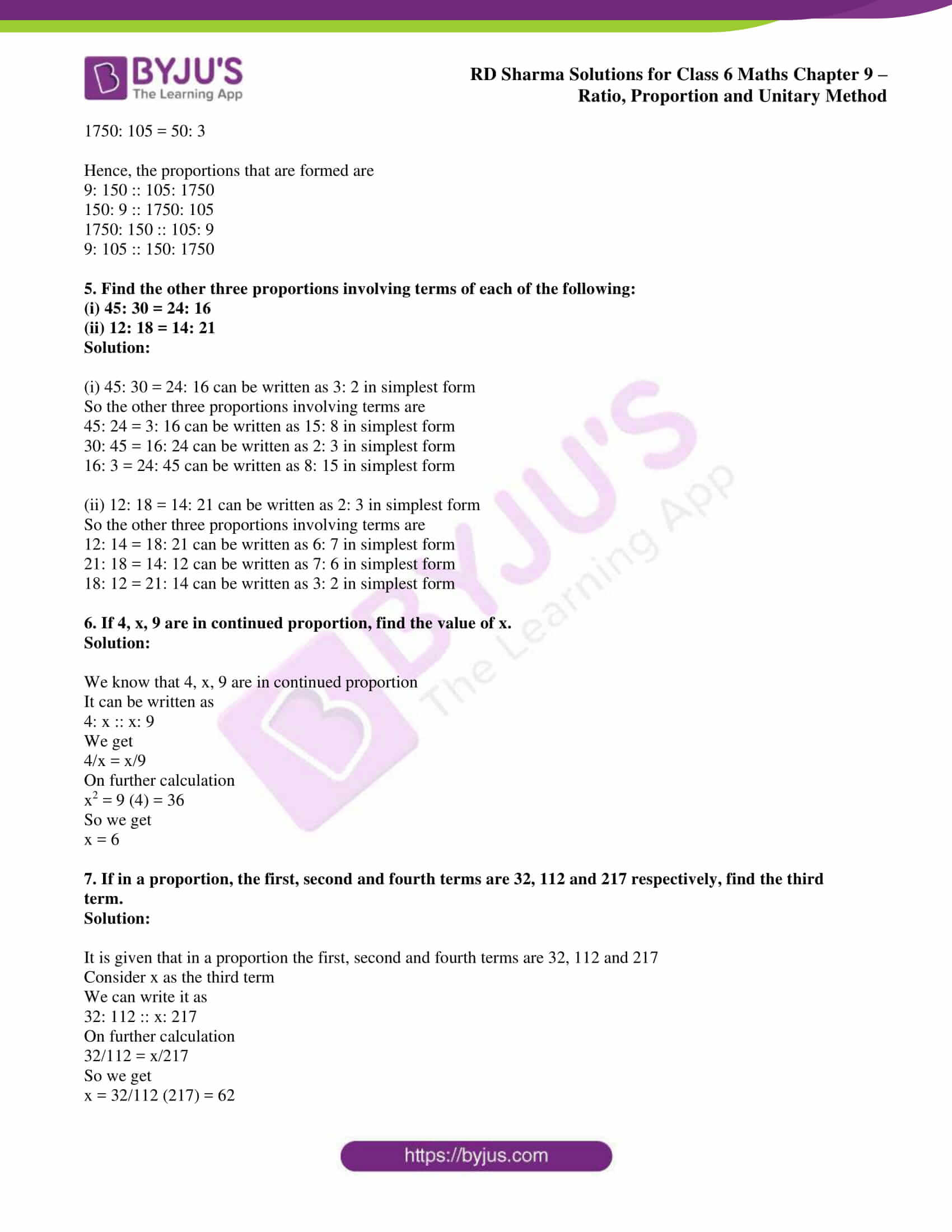 rd sharma solution class 6 maths chapter 9 ex 3