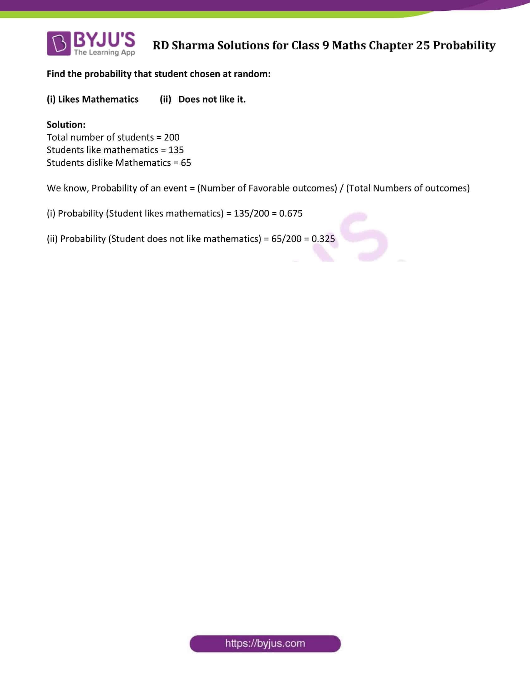 rd sharma solution class 9 maths chapter 25 Ex-25.1