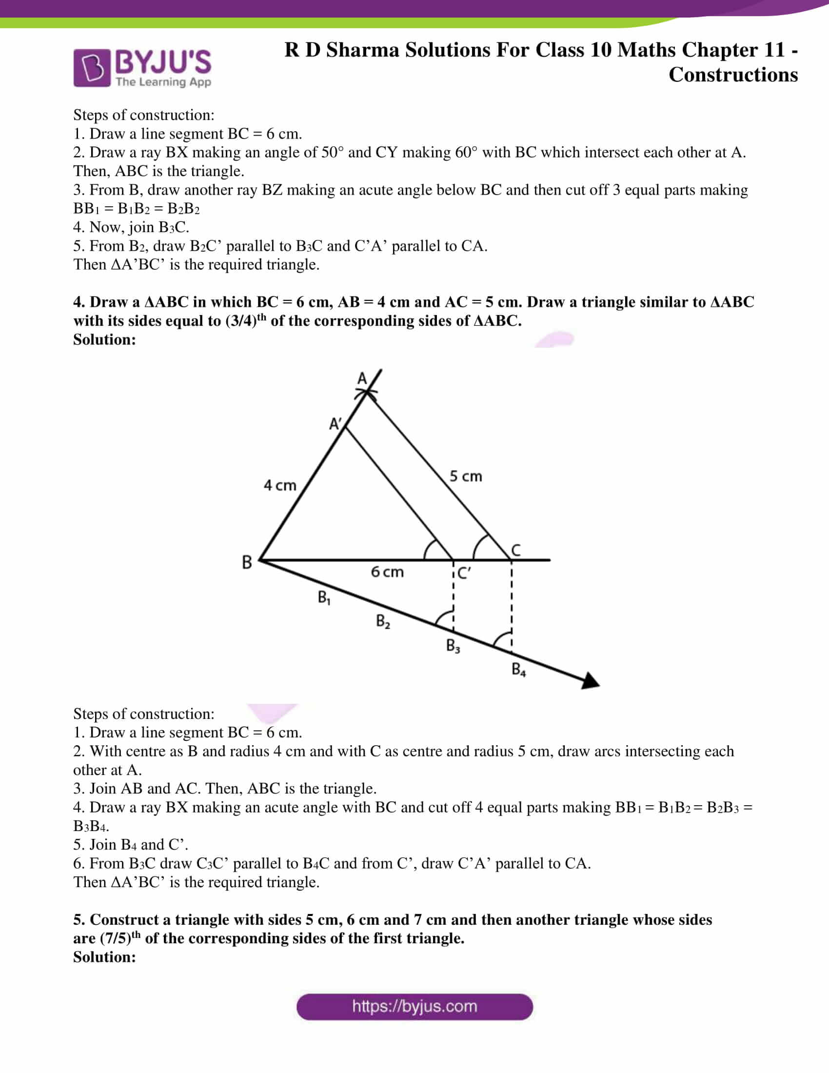 rd sharma solutions for class 10 chapter 11 ex 2