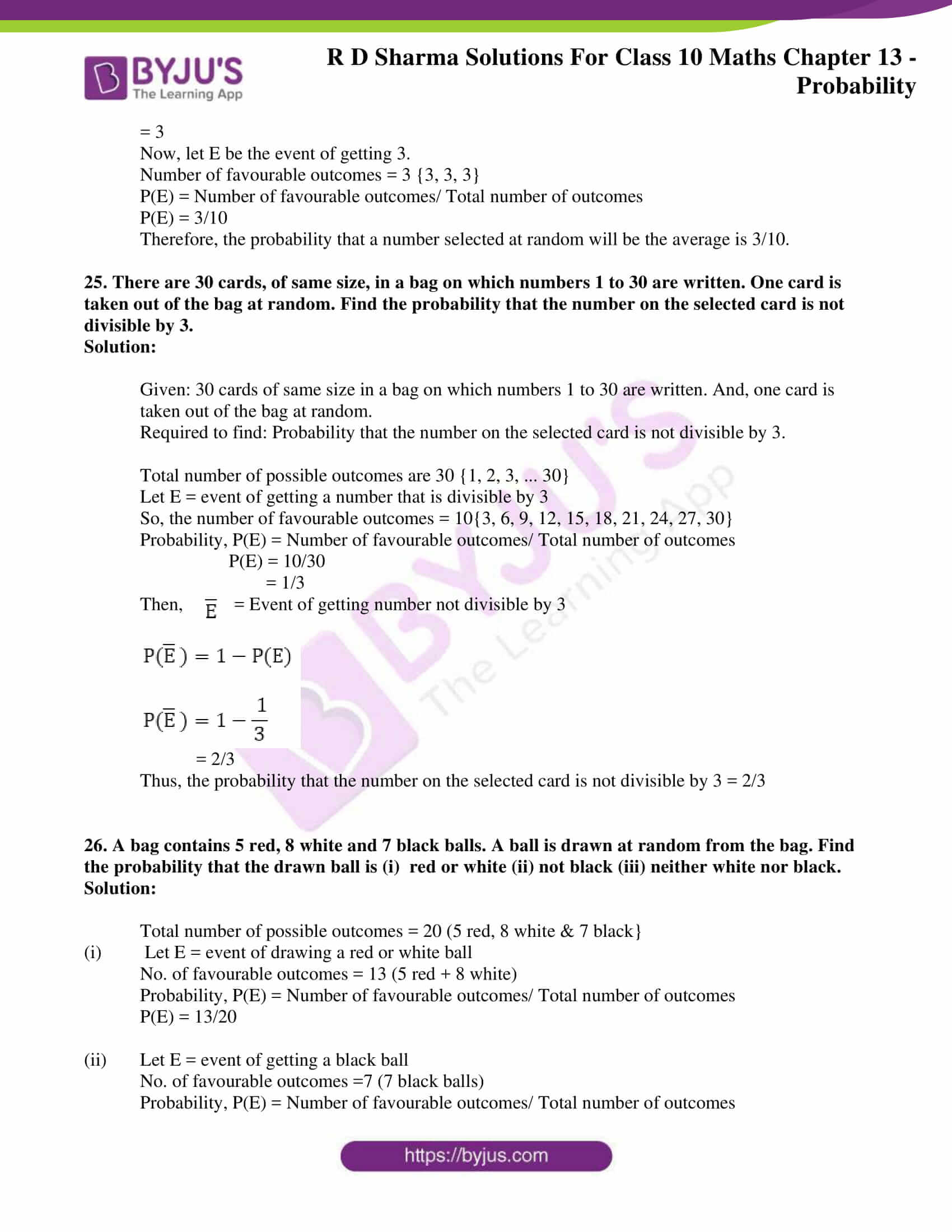 rd sharma solutions for class 10 chapter 13
