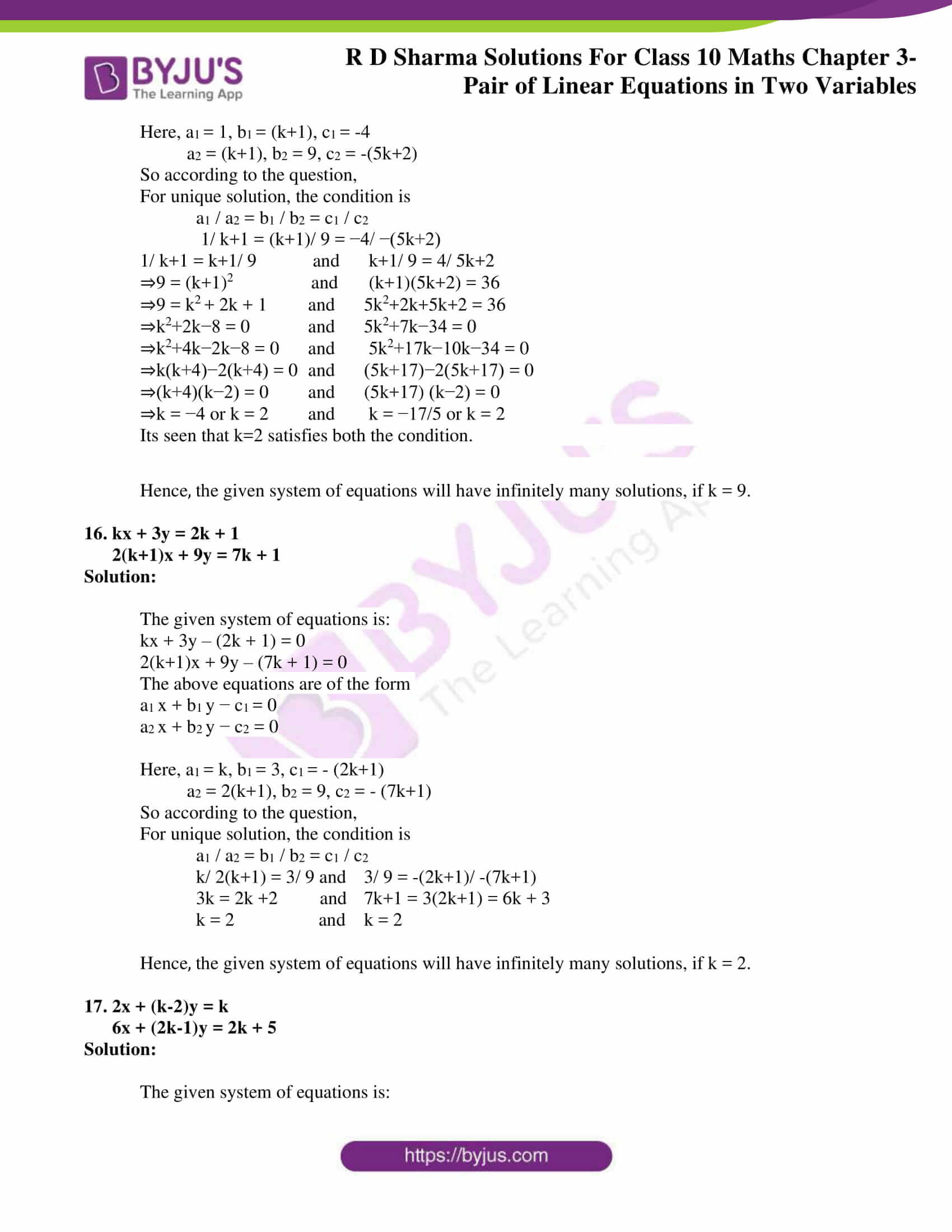 rd sharma solutions for class 10 chapter 3 ex 3.5