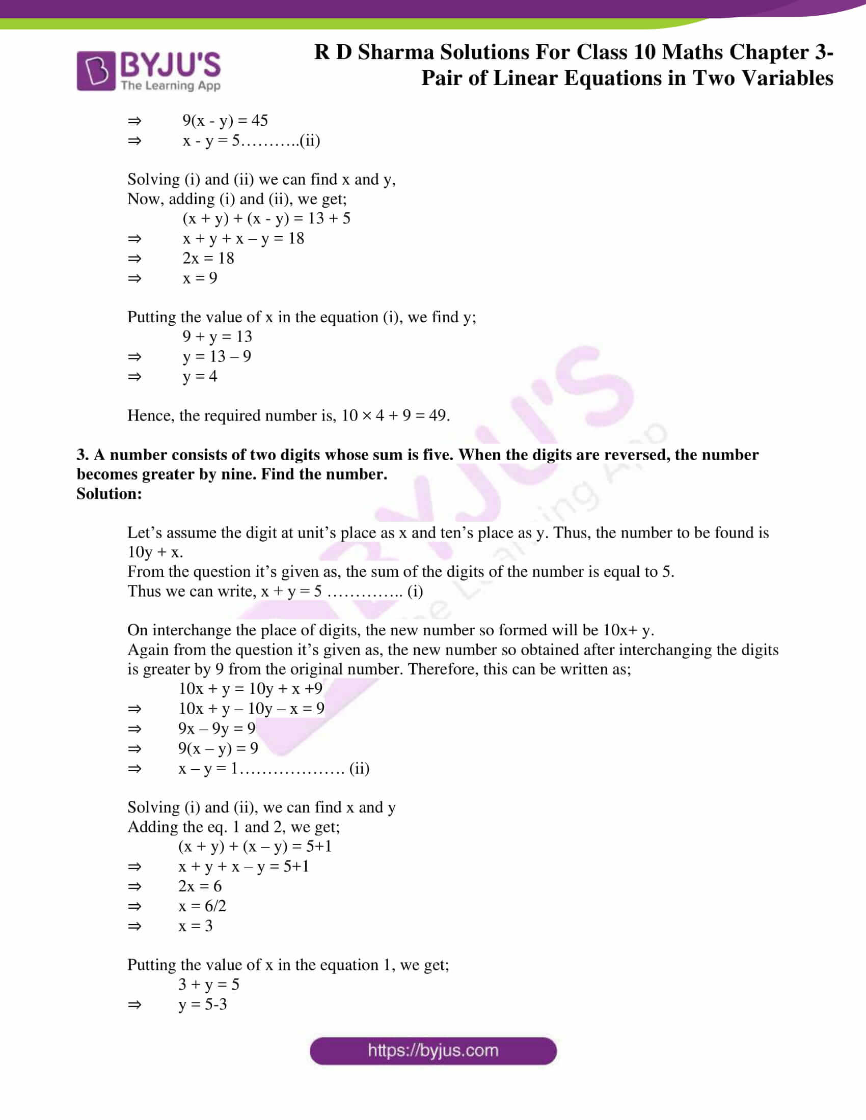 rd sharma solutions for class 10 chapter 3 ex 3.7