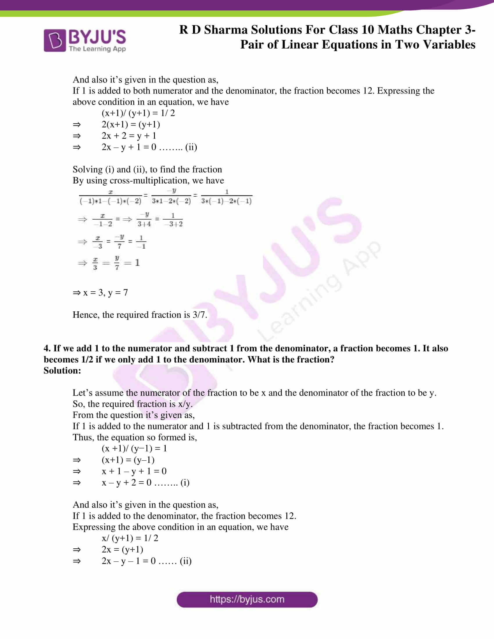 rd sharma solutions for class 10 chapter 3 ex 3.8