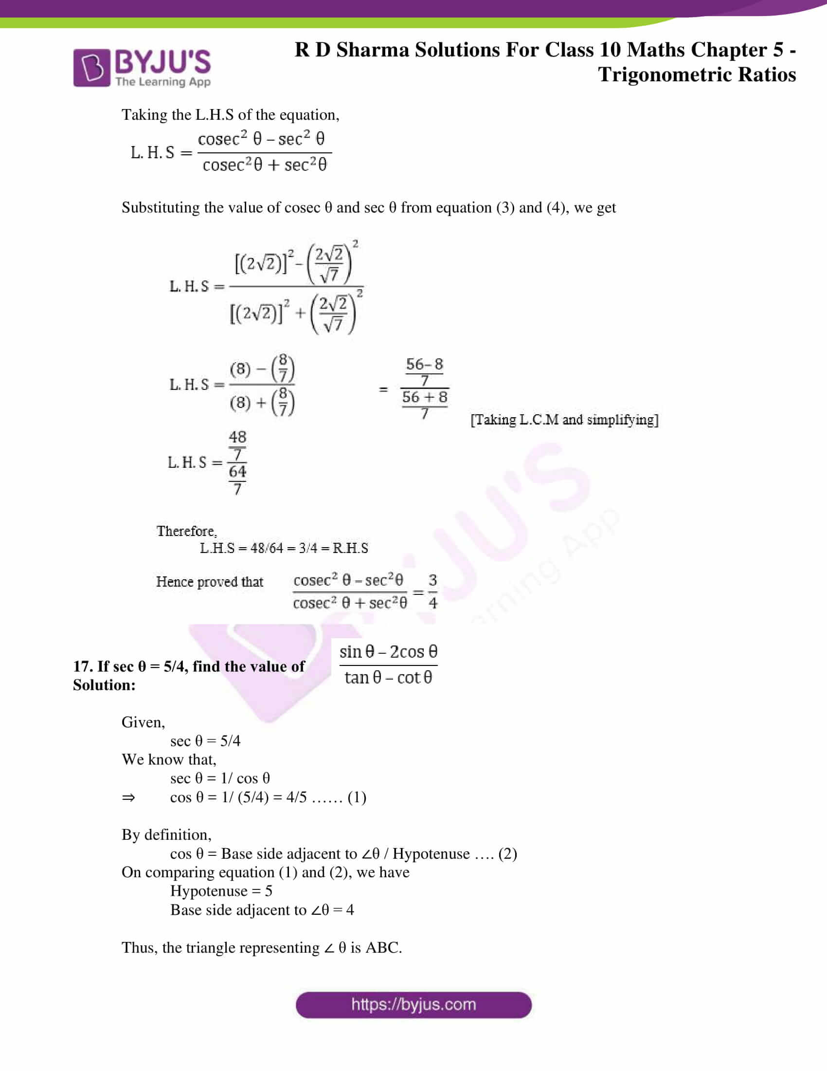 rd sharma solutions for class 10 chapter 5 ex 1