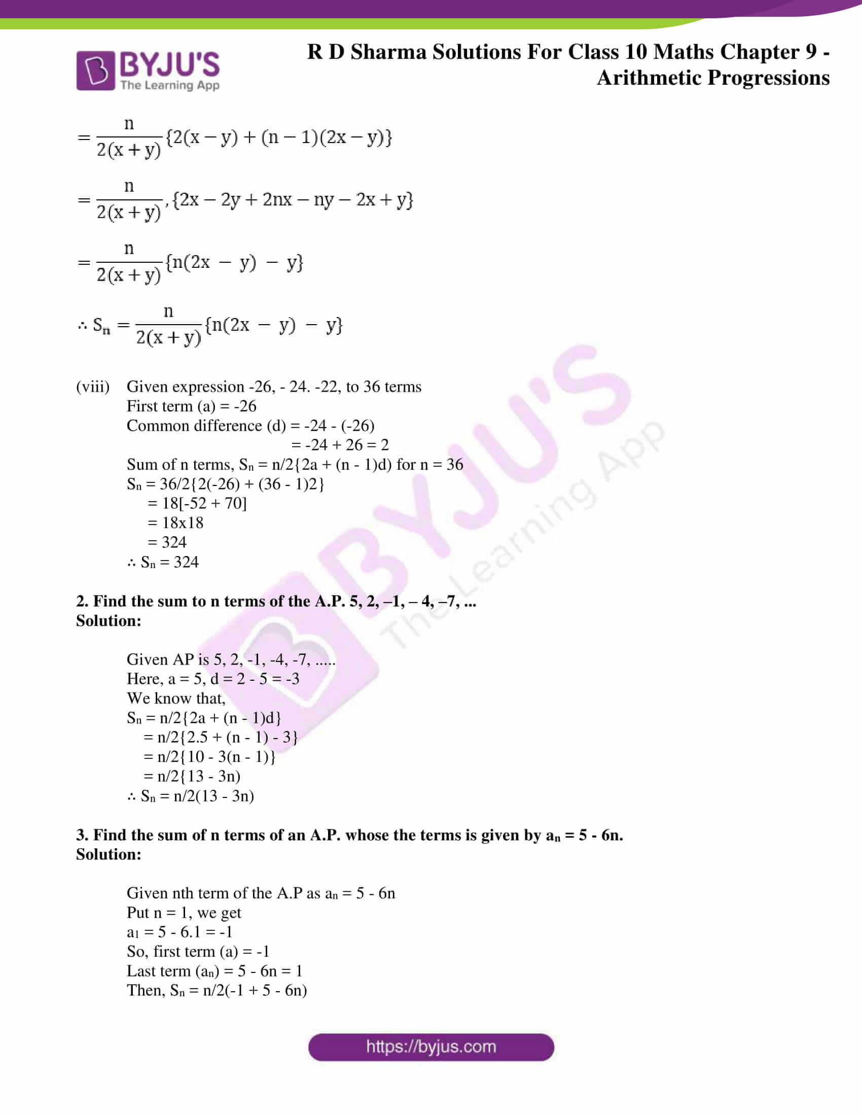 rd sharma solutions for class 10 chapter 9
