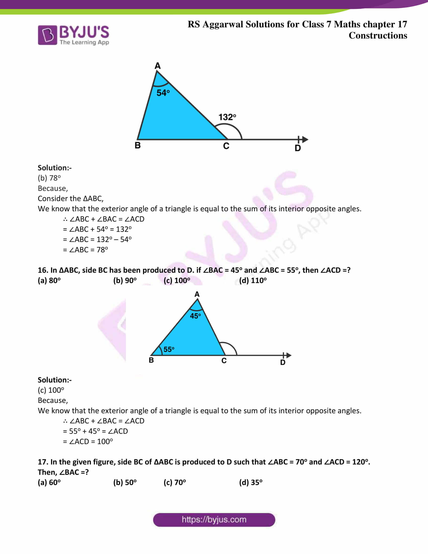 rs aggarwal solution class 7 maths chapter 17