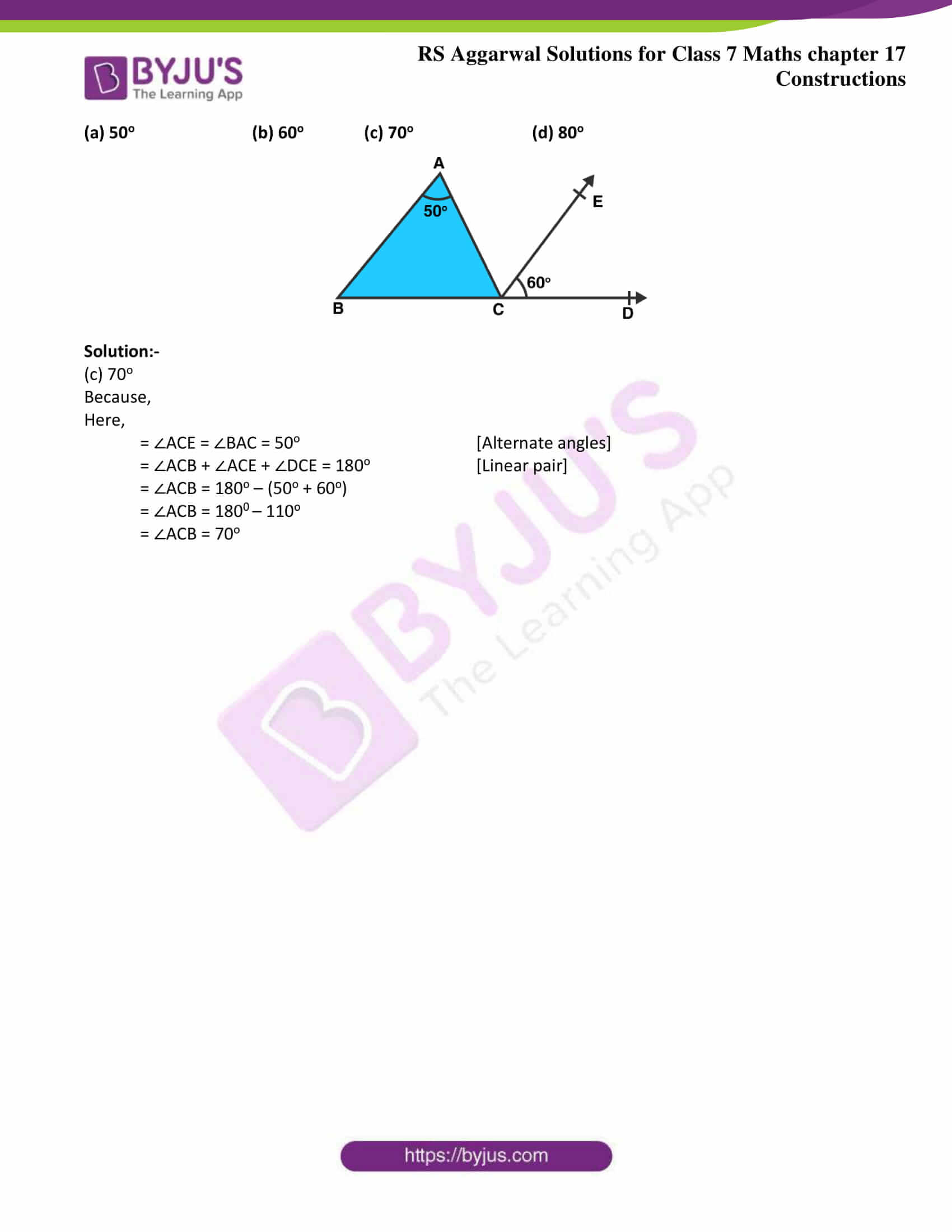 rs aggarwal solution class 7 maths chapter 17 Exercise 17C