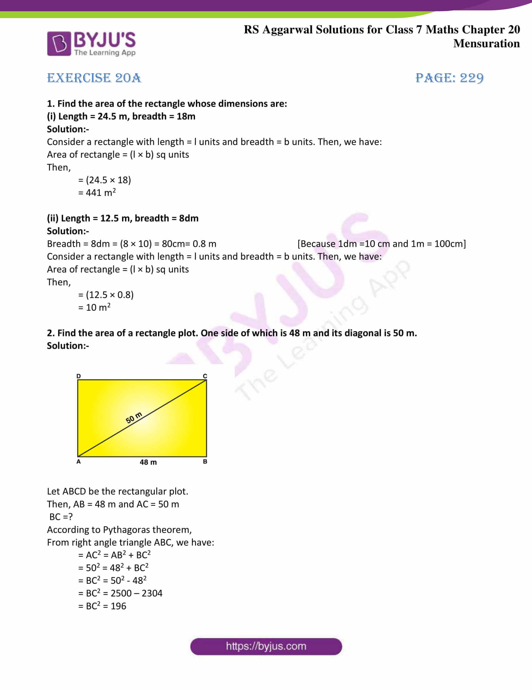 rs aggarwal solution class 7 maths chapter Exercise 20A