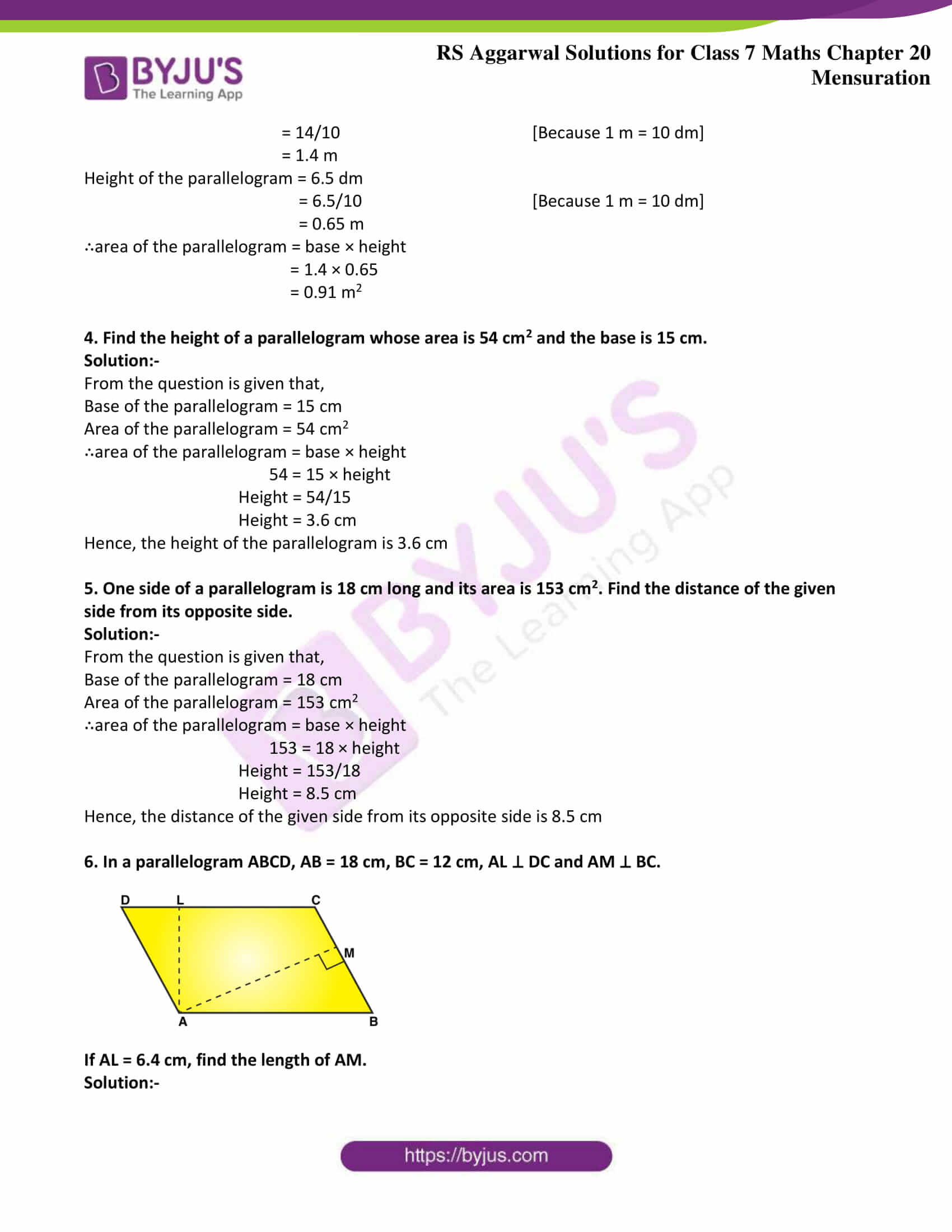 rs aggarwal solution class 7 maths chapter Exercise 20C