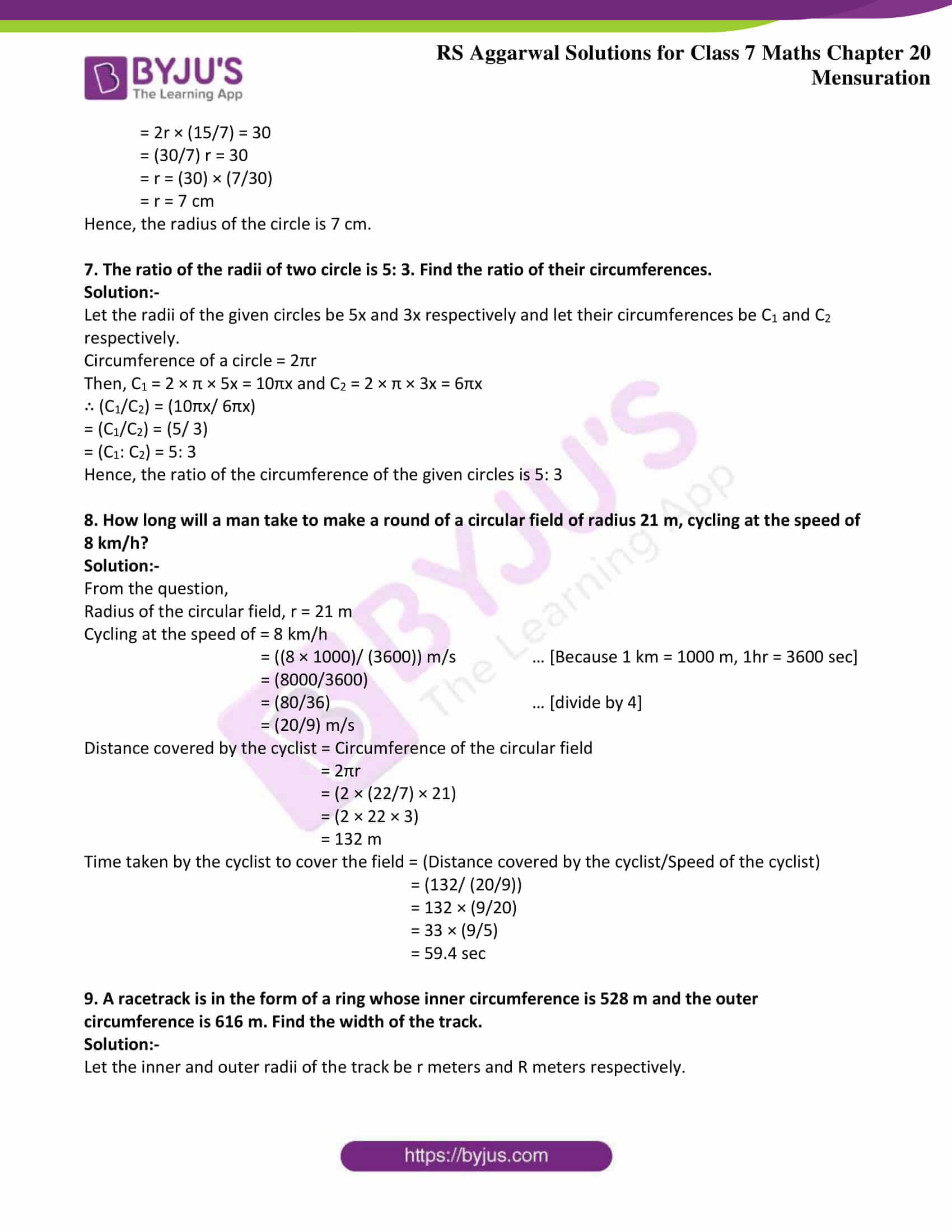rs aggarwal solution class 7 maths chapter Exercise 20E
