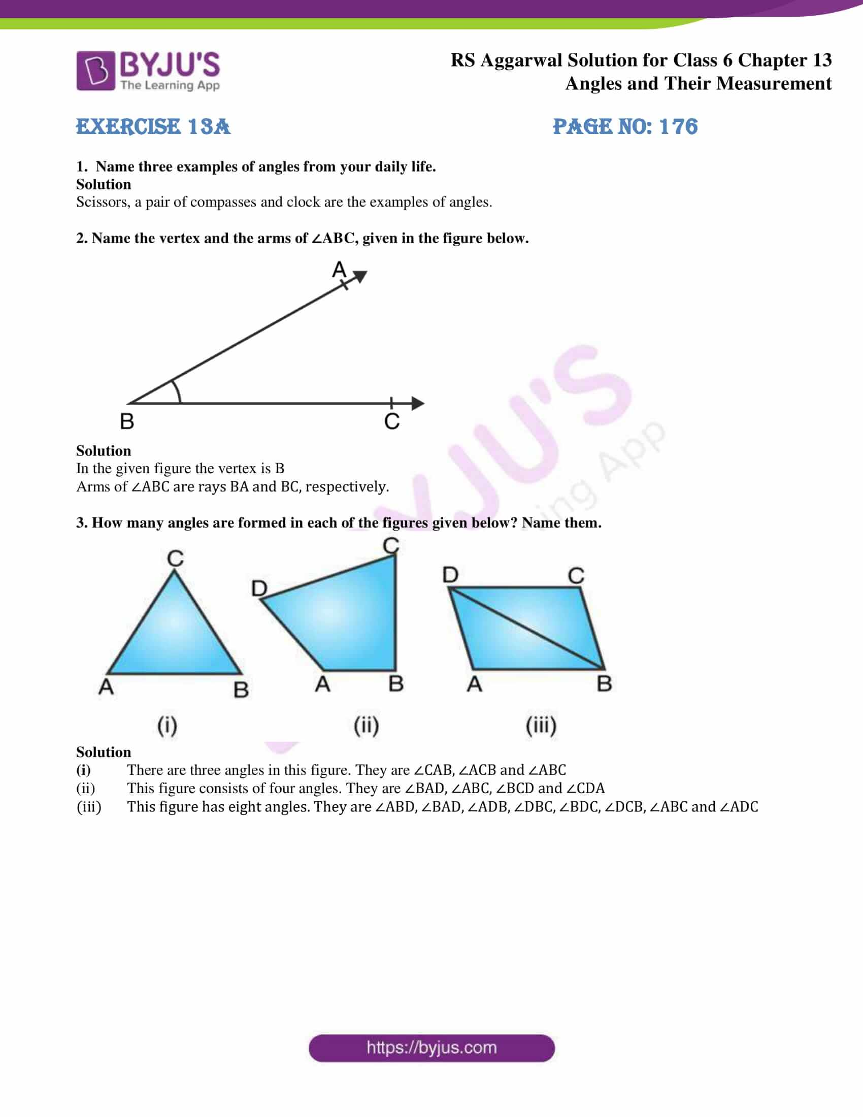 rs aggarwal solution class 6 maths chapter 13