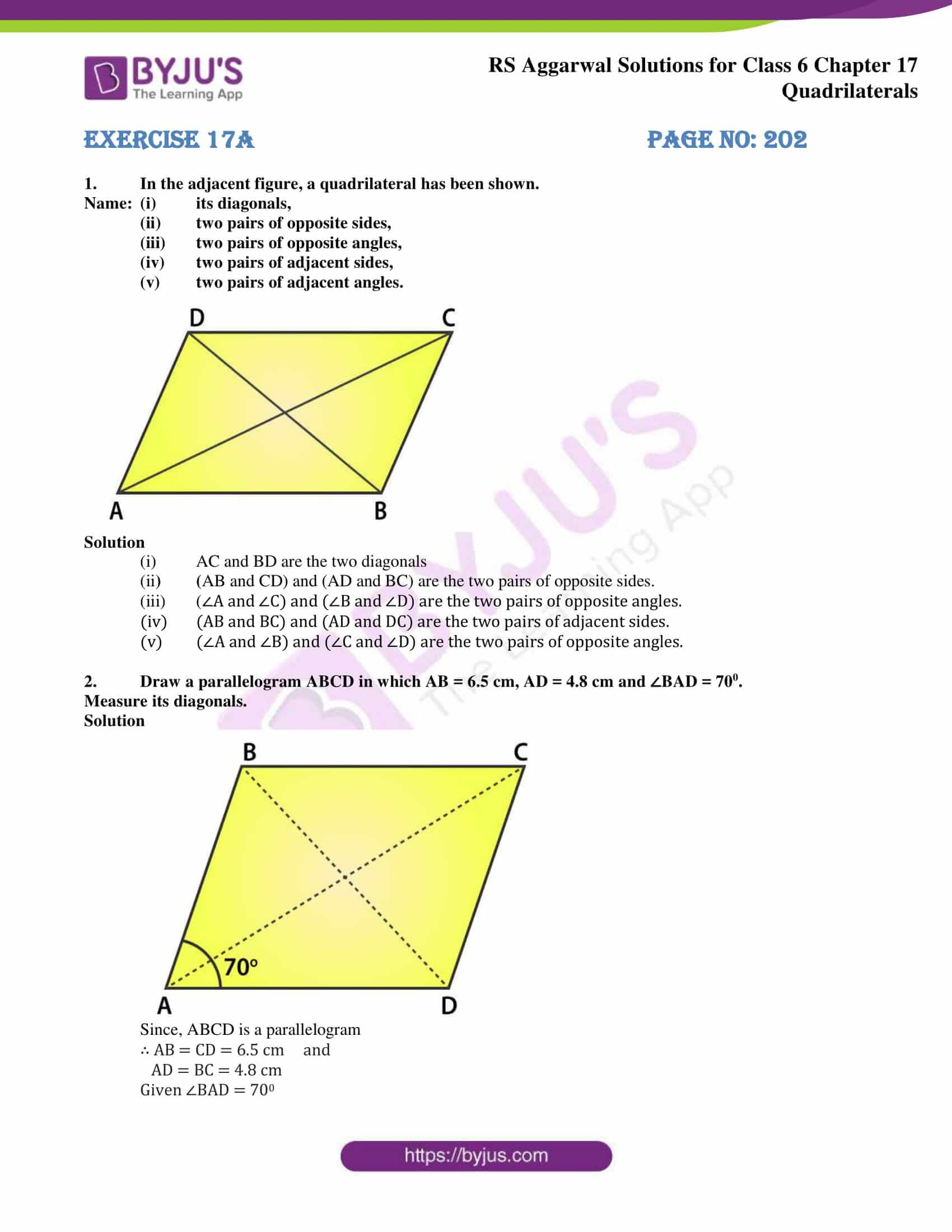 rs aggarwal solution class 6 maths chapter 17a