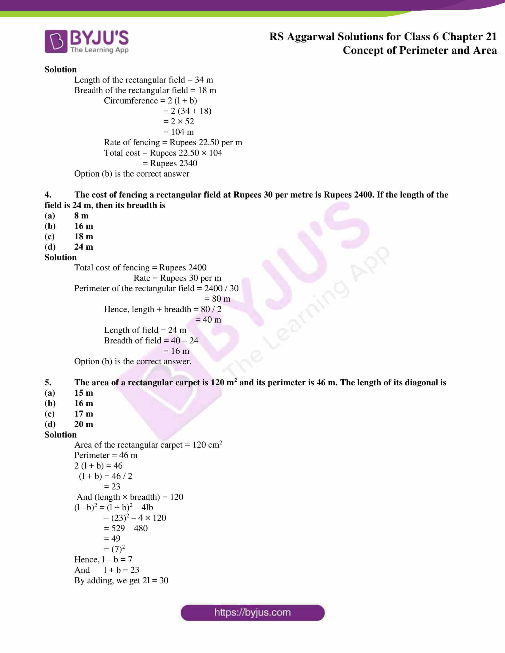 rs aggarwal solution class 6 maths chapter 21